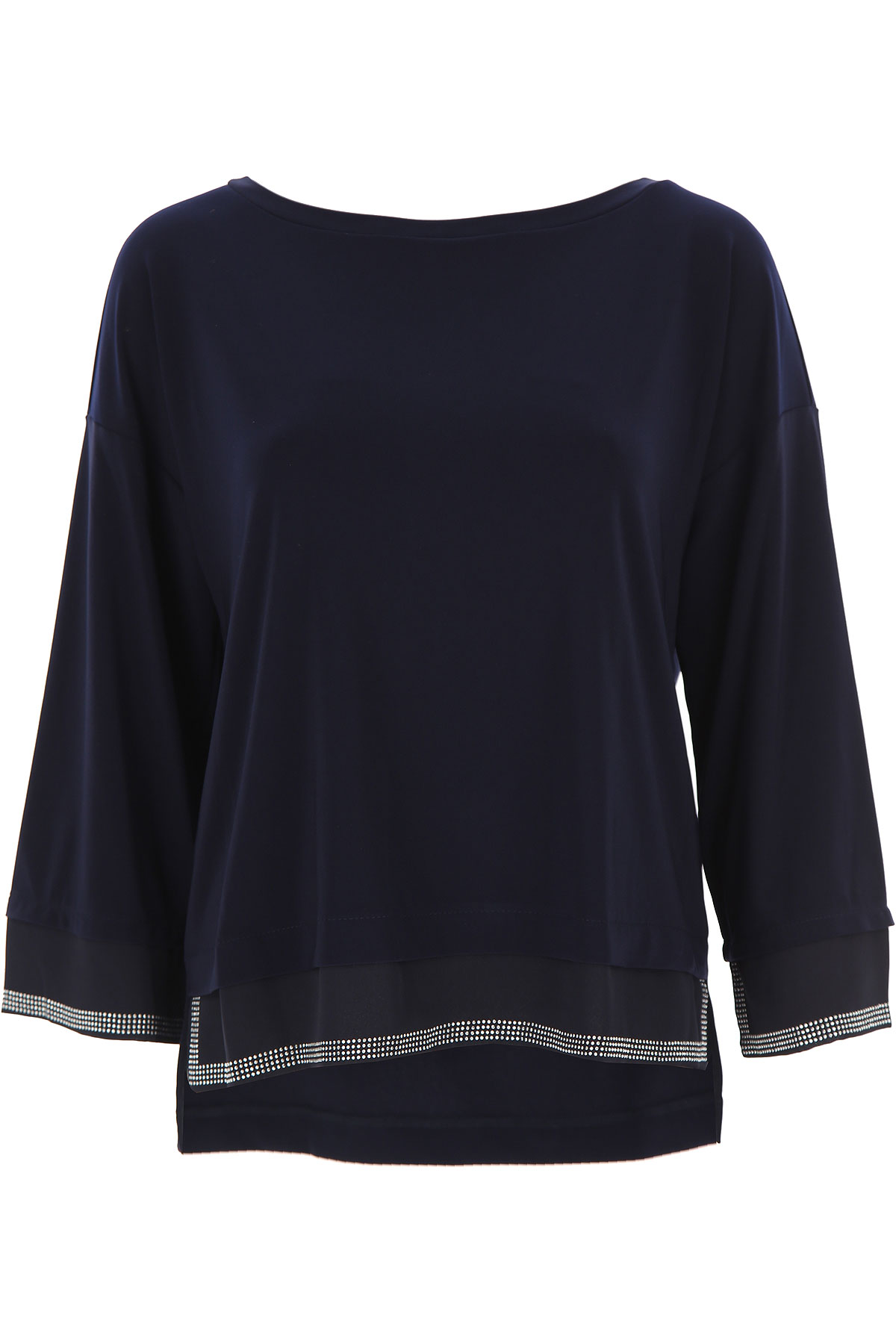 Joseph Ribkoff Top for Women On Sale, Navy Blue, polyestere, 2019, 12 14