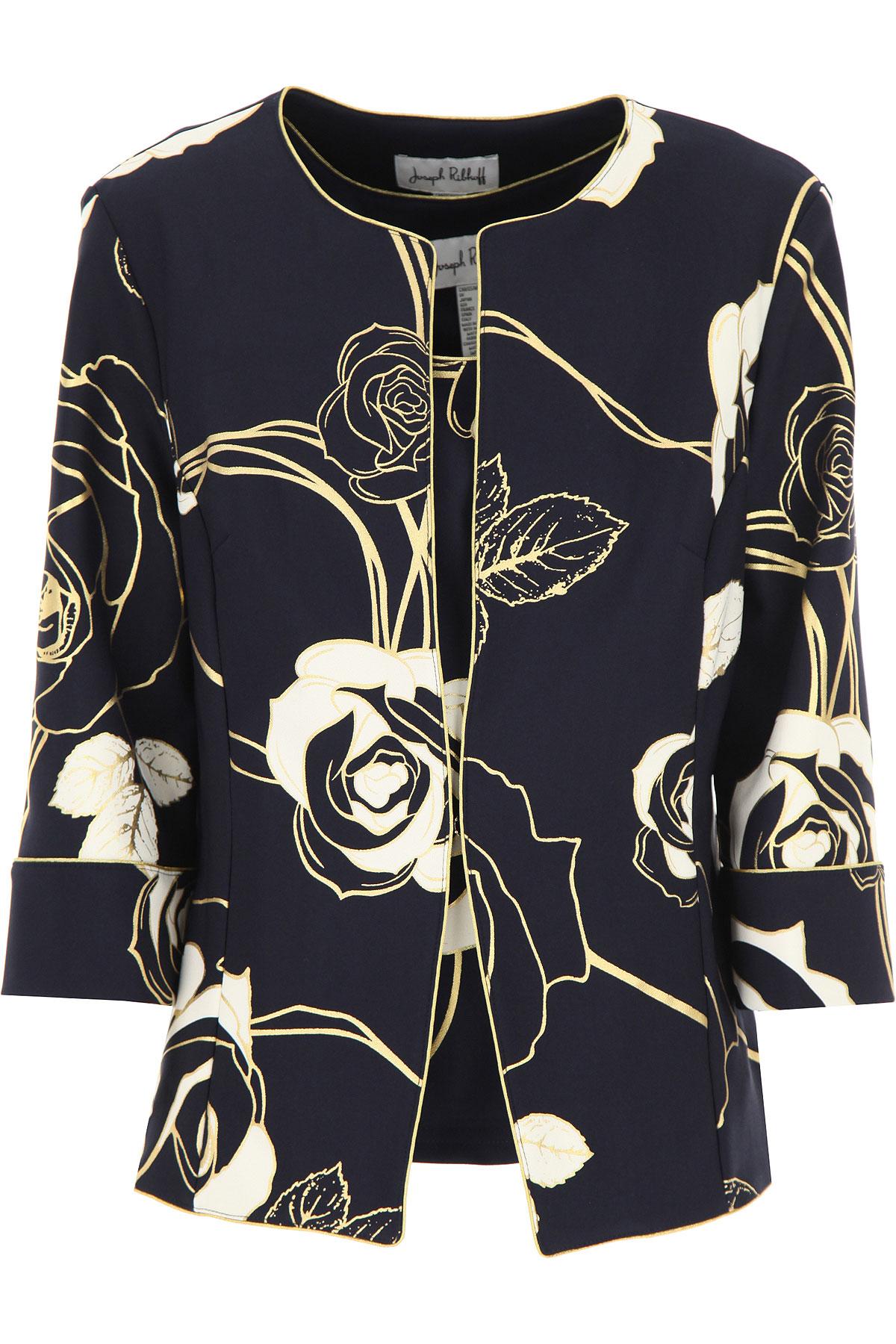 Joseph Ribkoff Jacket for Women On Sale, navy, polyester, 2019, 12 14