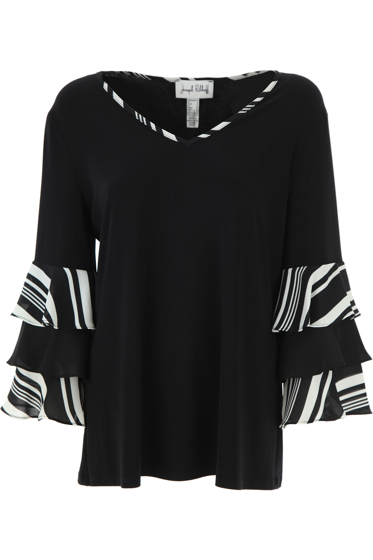 Joseph Ribkoff Top for Women On Sale, Black, polyester, 2019, 10 12 14 8