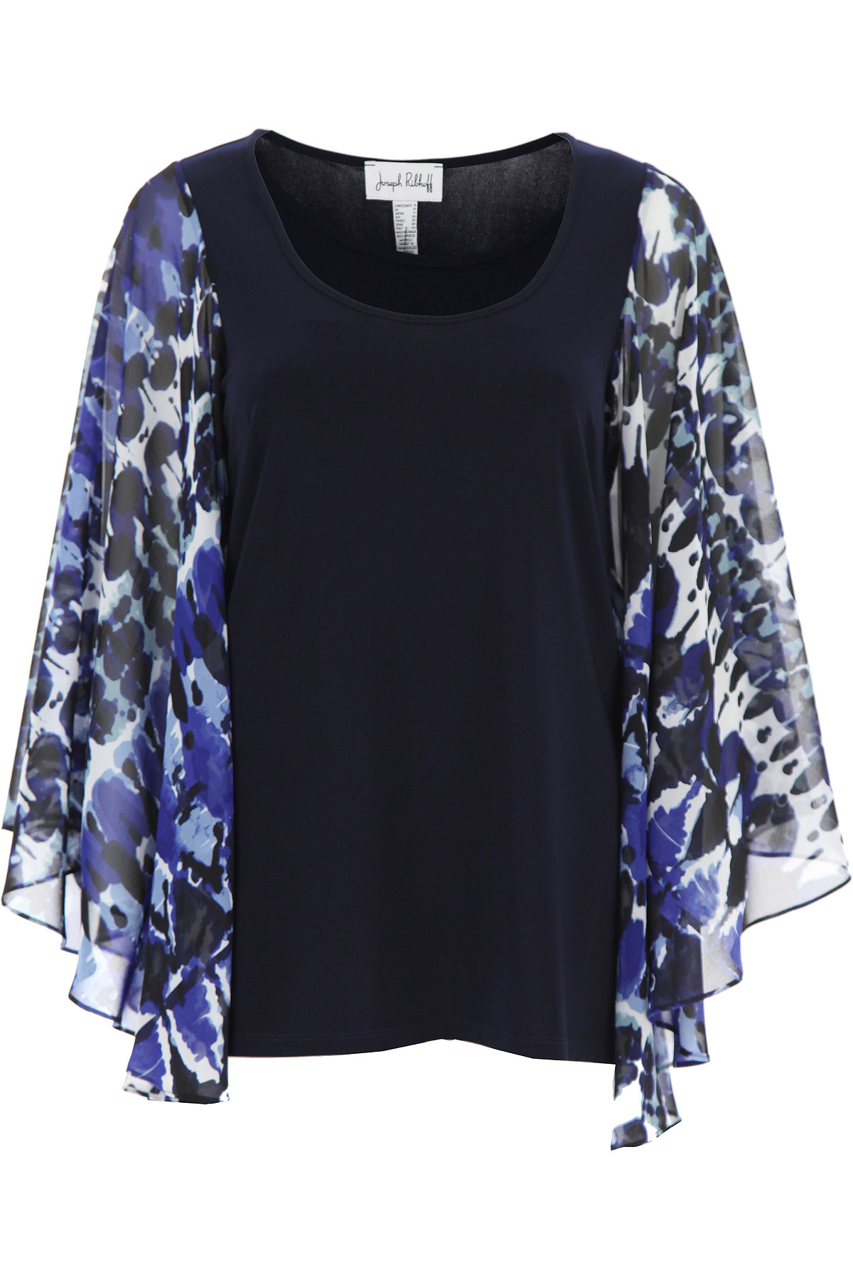 Joseph Ribkoff Top for Women On Sale, navy, polyester, 2019, 10 12 6 8