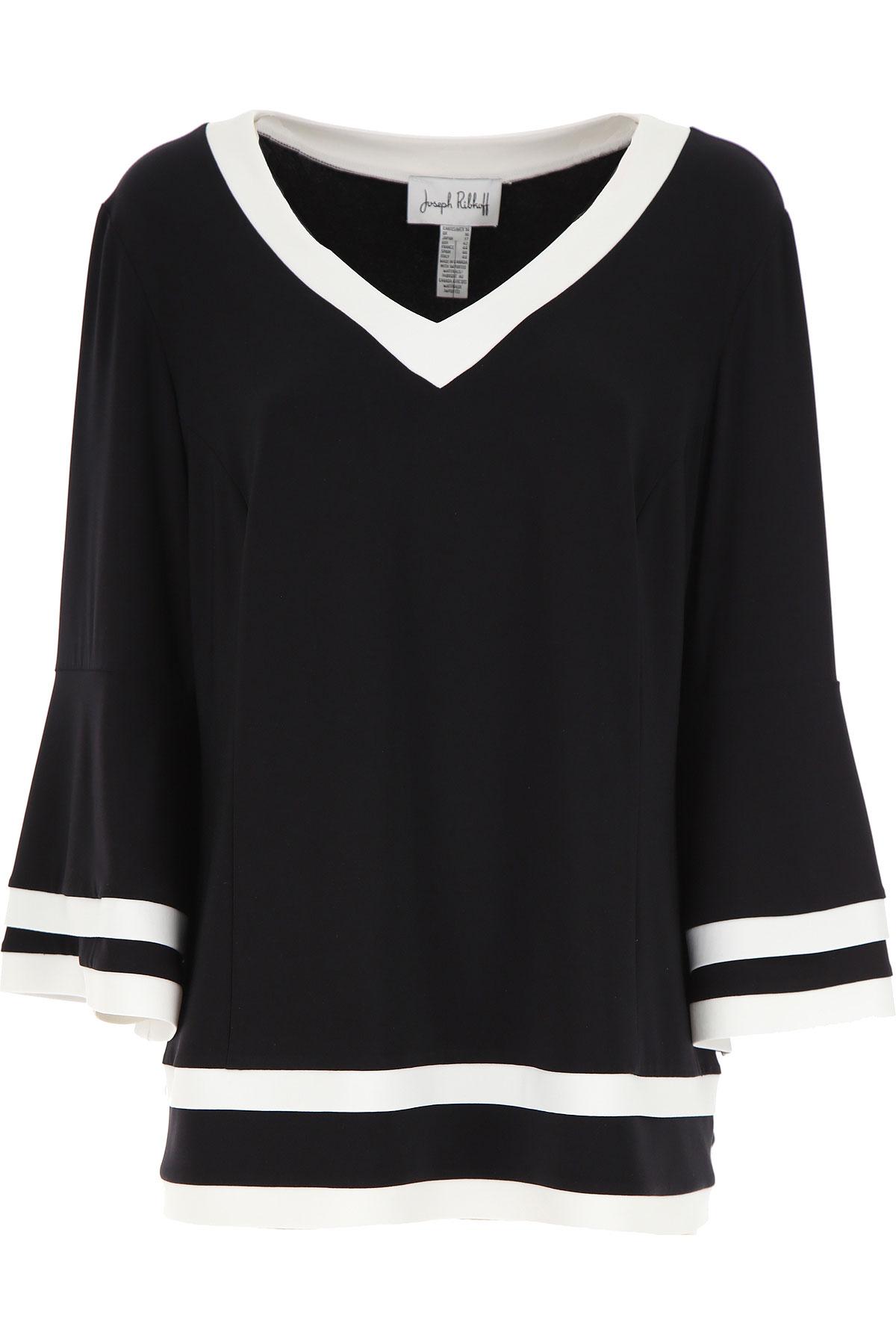 Joseph Ribkoff Sweater for Women Jumper On Sale, Black, polyester, 2019, 14 8