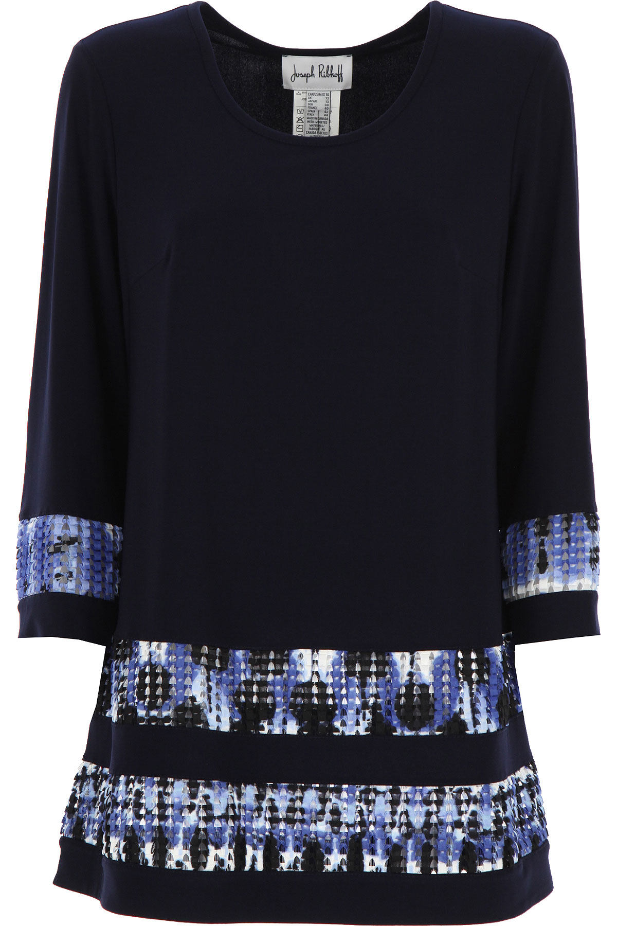 Joseph Ribkoff Top for Women On Sale, Midnight Blue, polyester, 2019, 10 12 14 8