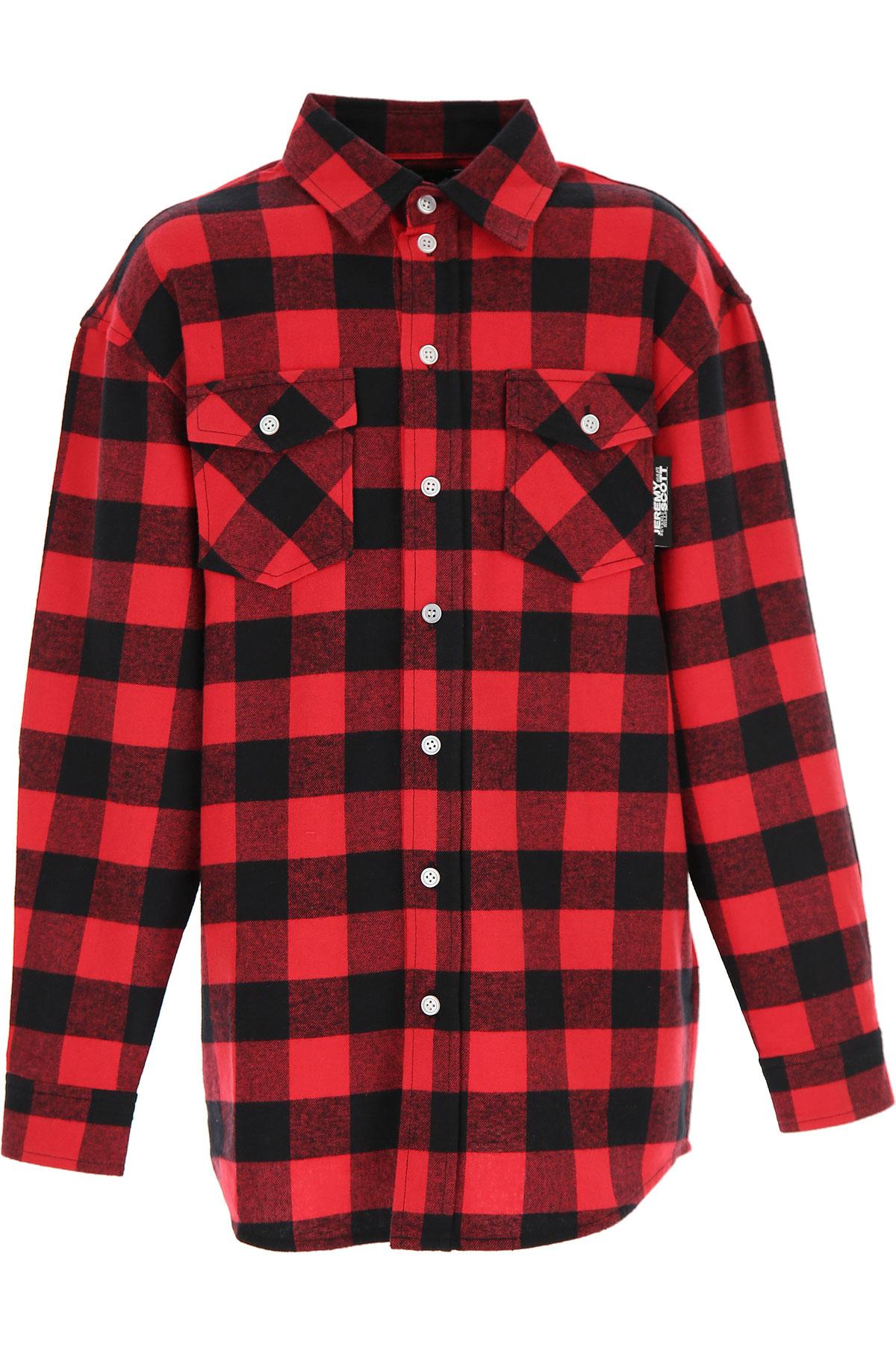 Jeremy Scott Kids Shirts for Boys On Sale, Red, Cotton, 2019, 10Y 12Y 14Y 16Y 8Y