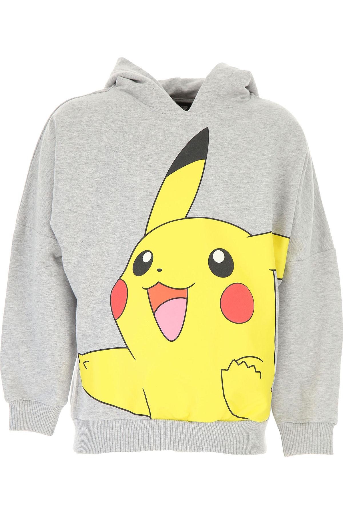Jeremy Scott Kids Sweatshirts & Hoodies for Boys On Sale, Grey, Cotton, 2019, 10Y 4Y 6Y 8Y