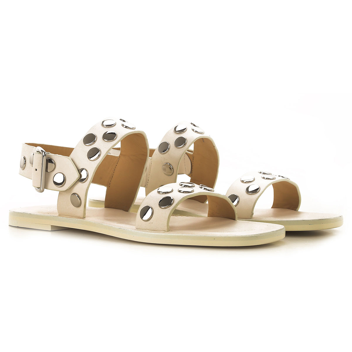 Jil Sander Sandals for Women On Sale in Outlet, White, Leather, 2019, 10 7 8 9