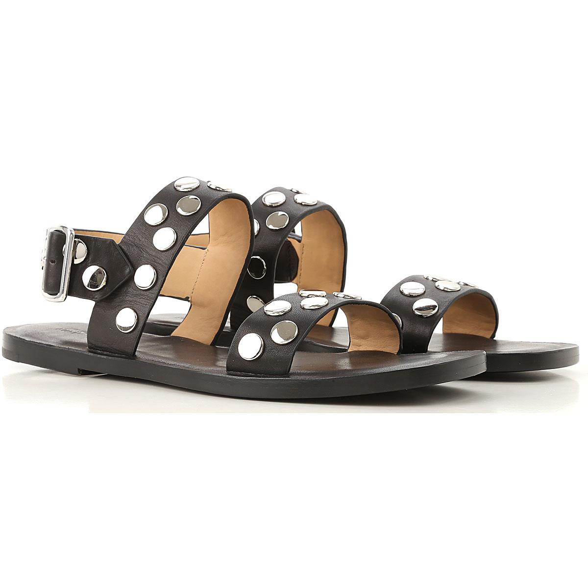 Jil Sander Sandals for Women On Sale in Outlet, Black, Leather, 2019, 8 9