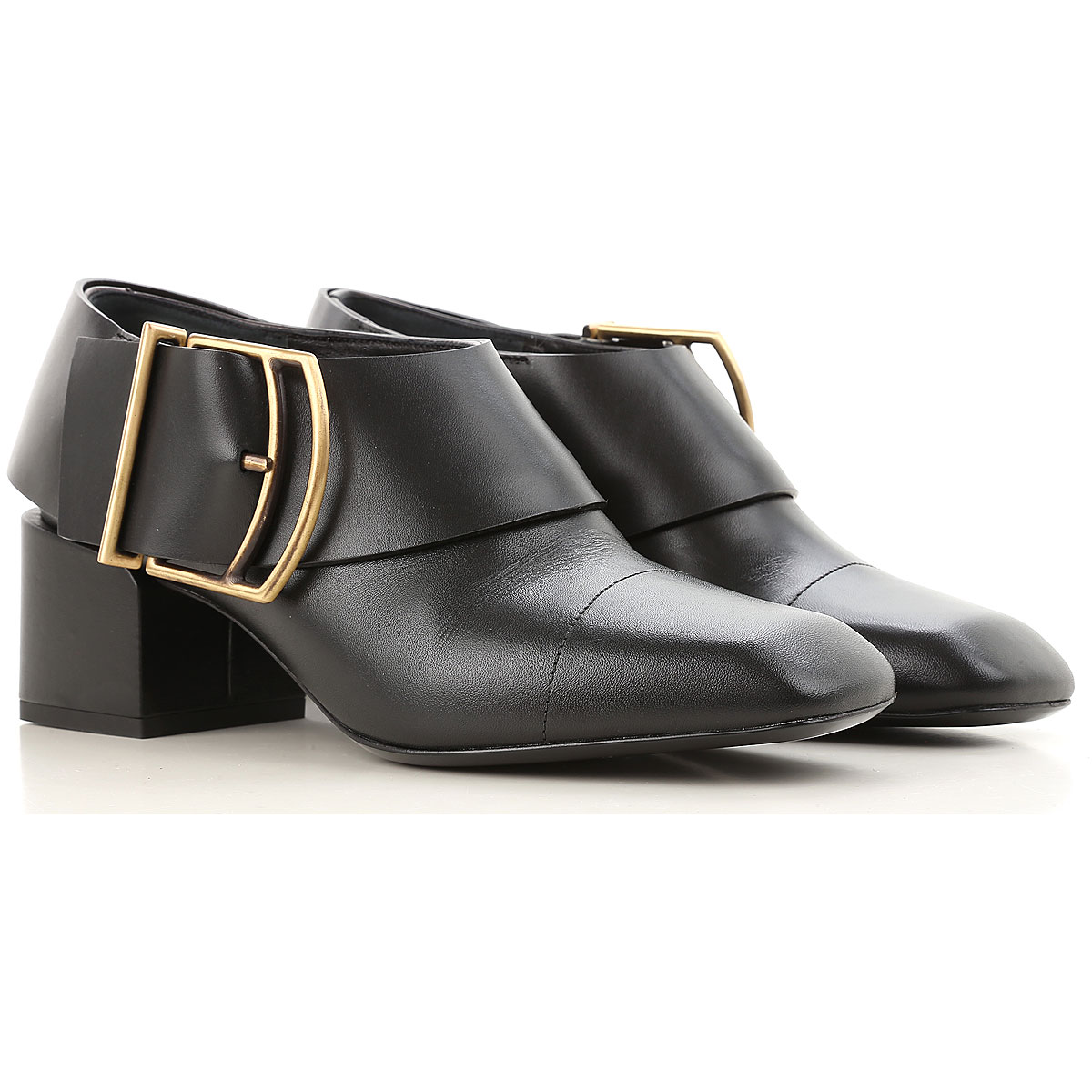 Image of Jil Sander Boots for Women, Booties On Sale in Outlet, Black, Leather, 2017, 6 8