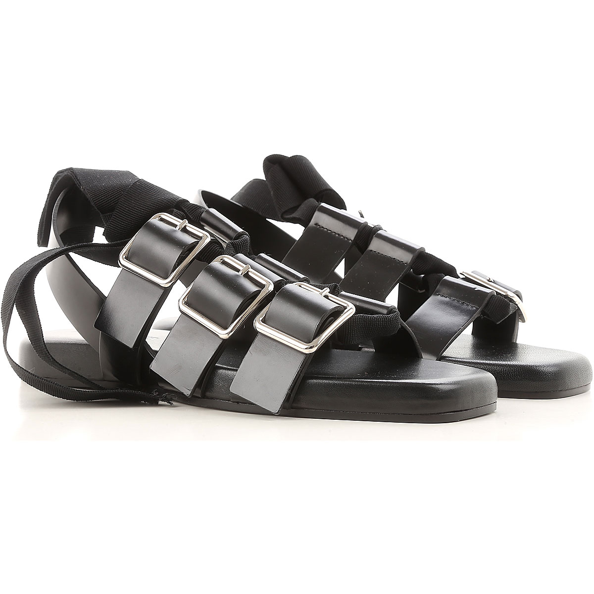 Jil Sander Sandals for Women On Sale in Outlet, Black, Leather, 2019, 10 7 8 9