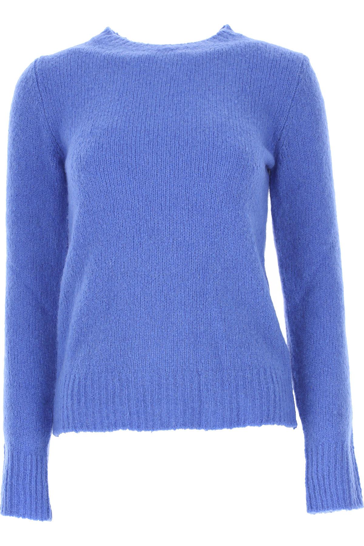 Jucca Sweater for Women Jumper On Sale, Cerulean, Virgin wool, 2019, 4 6