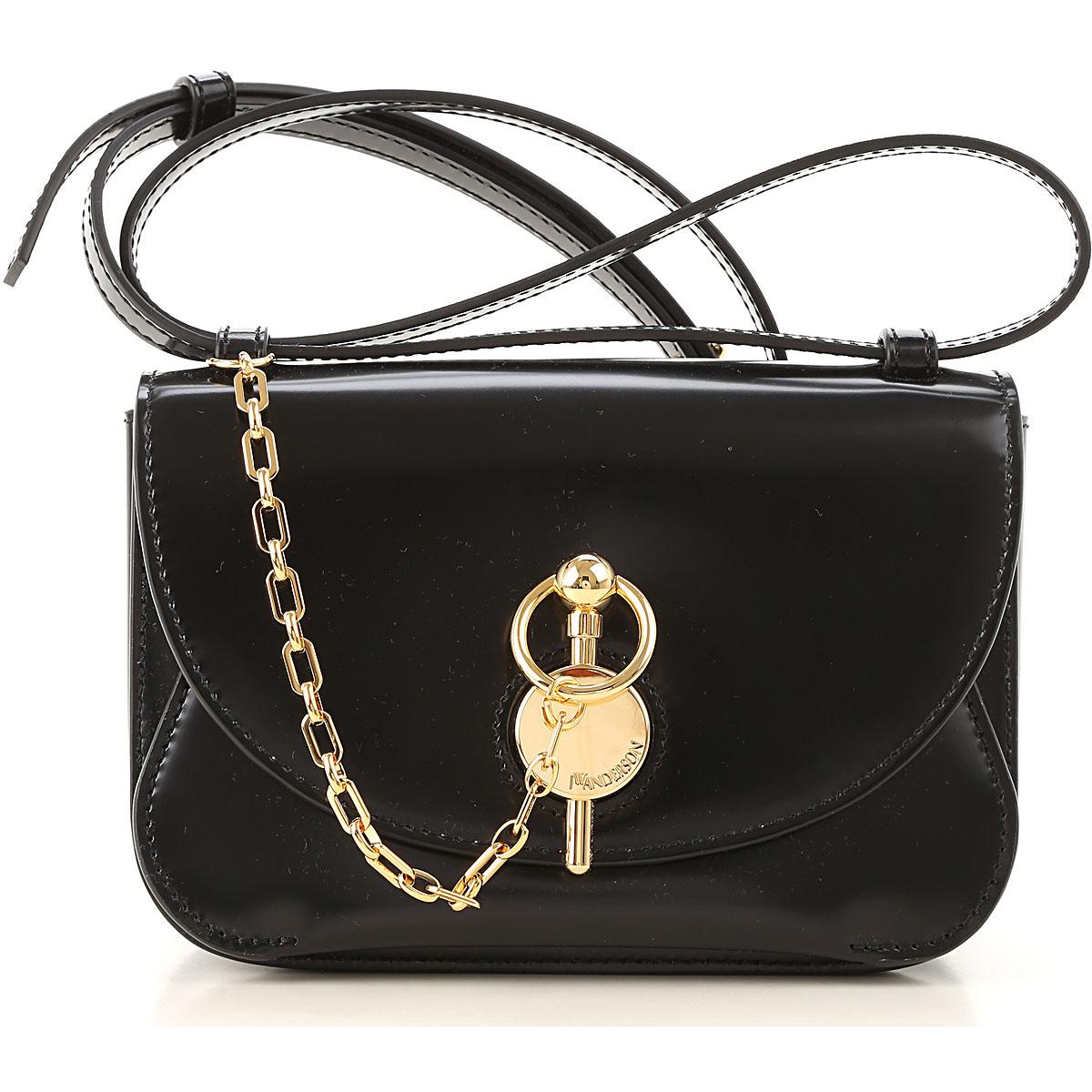 JW Anderson Shoulder Bag for Women, Black, Leather, 2019