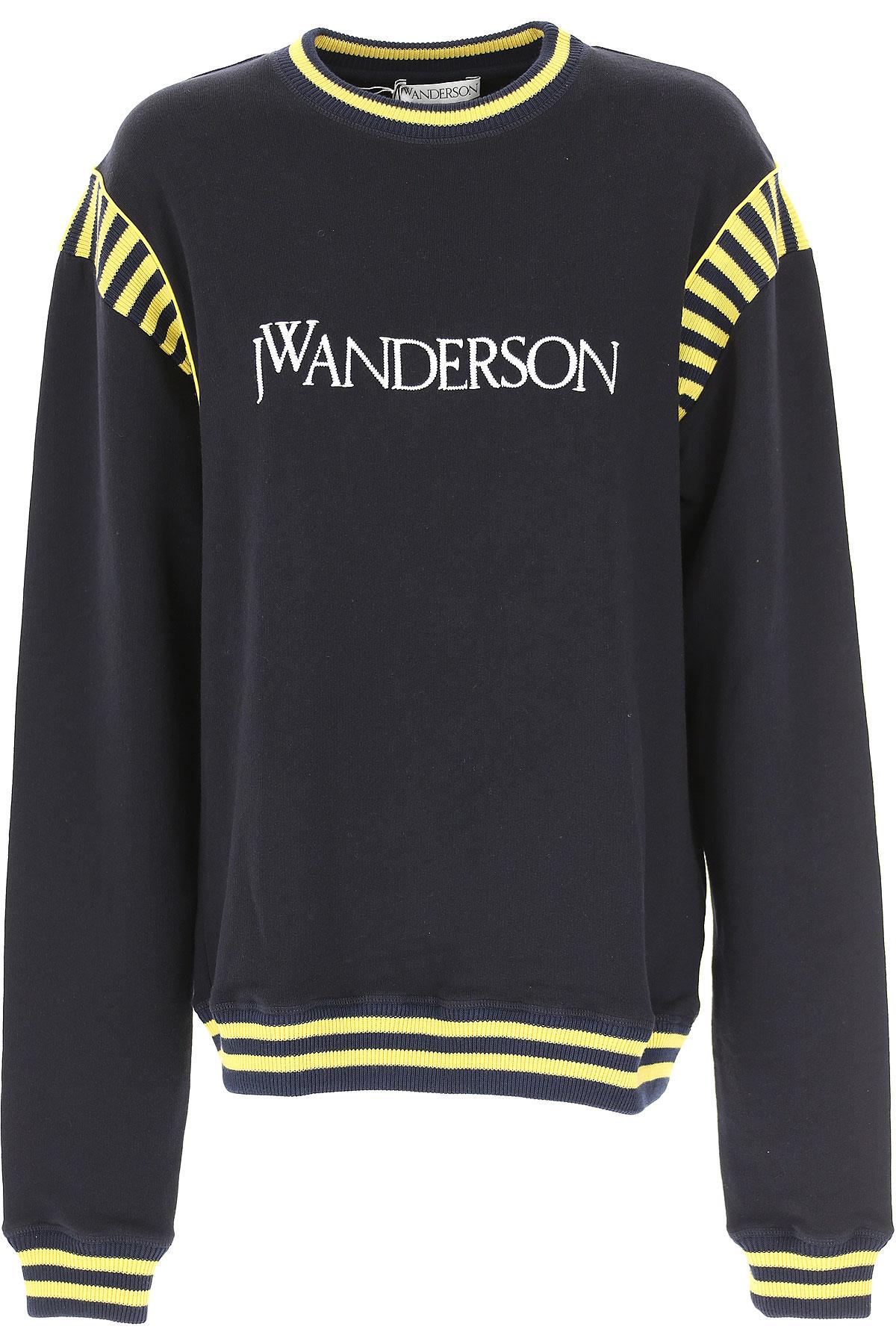 Image of J.W.Anderson Sweatshirt for Women, Navy Blue, Cotton, 2017, 10 4 6 8
