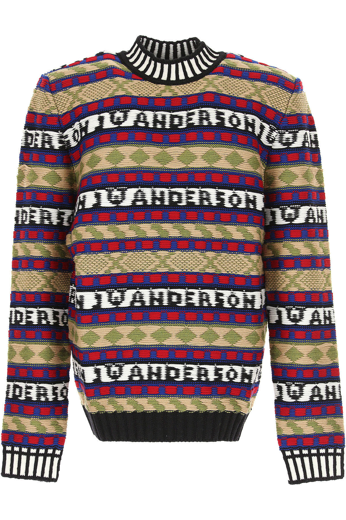 Image of J.W.Anderson Sweater for Women Jumper, Black, Extrafine Merino Wool, 2017, 6 8