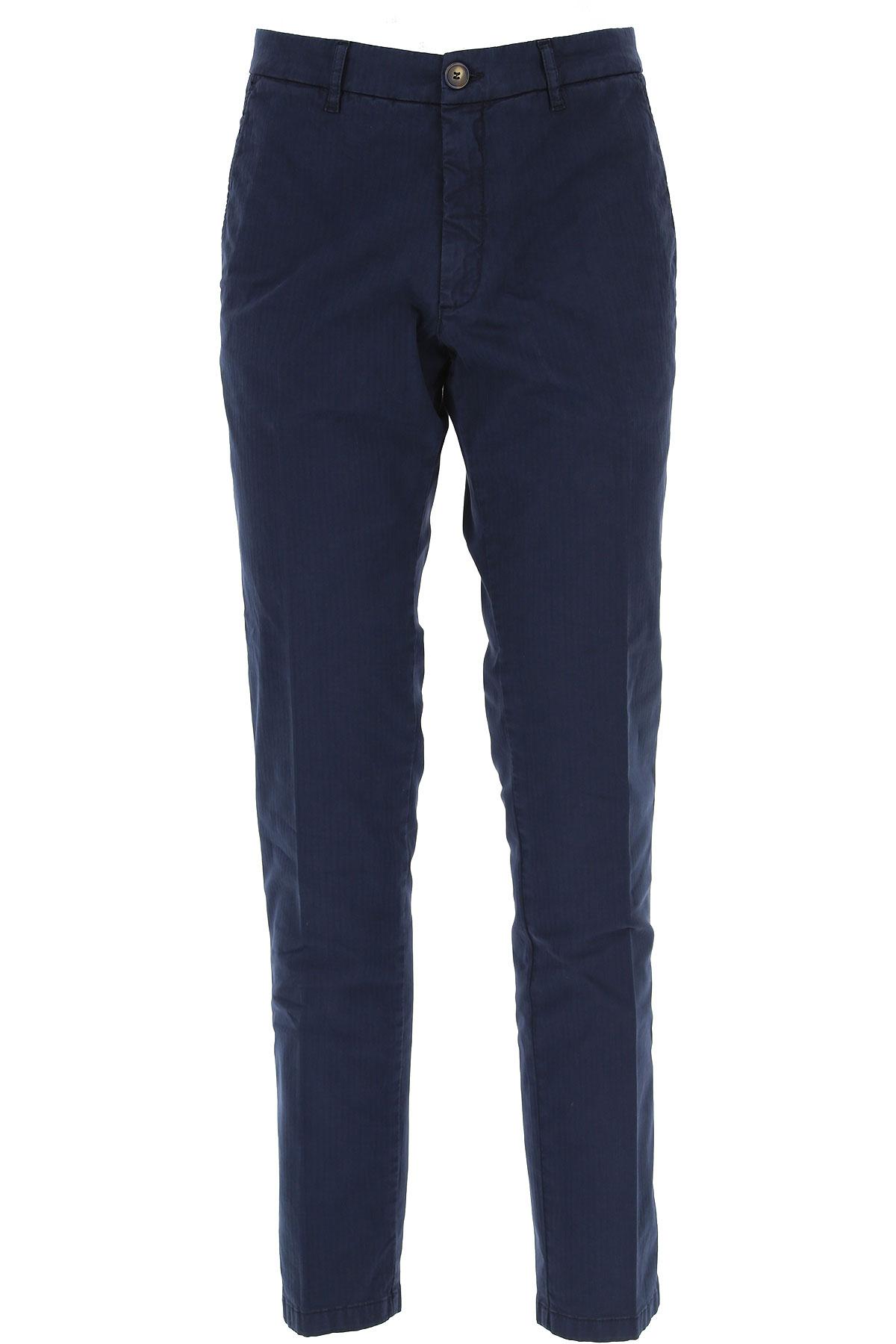 J.W. Brine Pantalon Homme Pas cher en Soldes, Bleu marine, Coton, 2019, 46 48 50 52 56 58