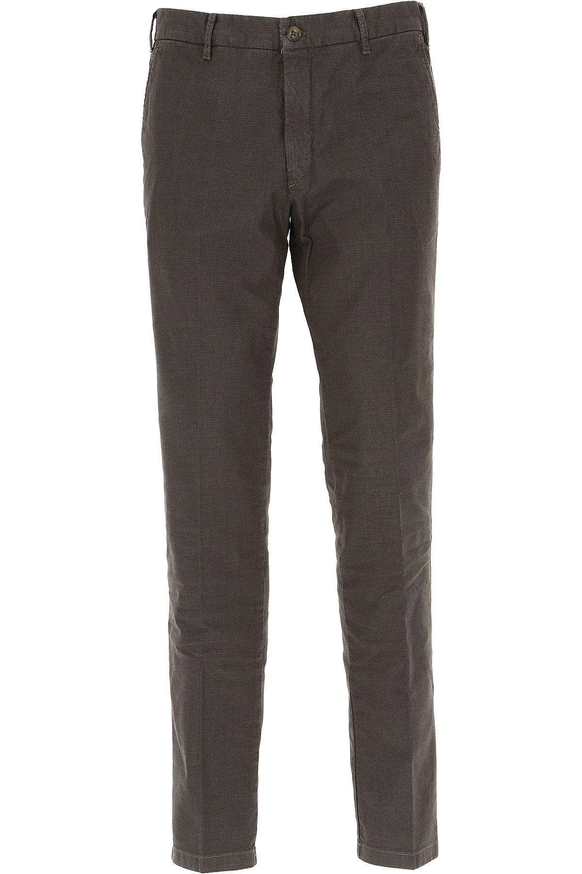 Image of J.W. Brine Pants for Men On Sale, Brown Melange, Cotton, 2017, 32 34