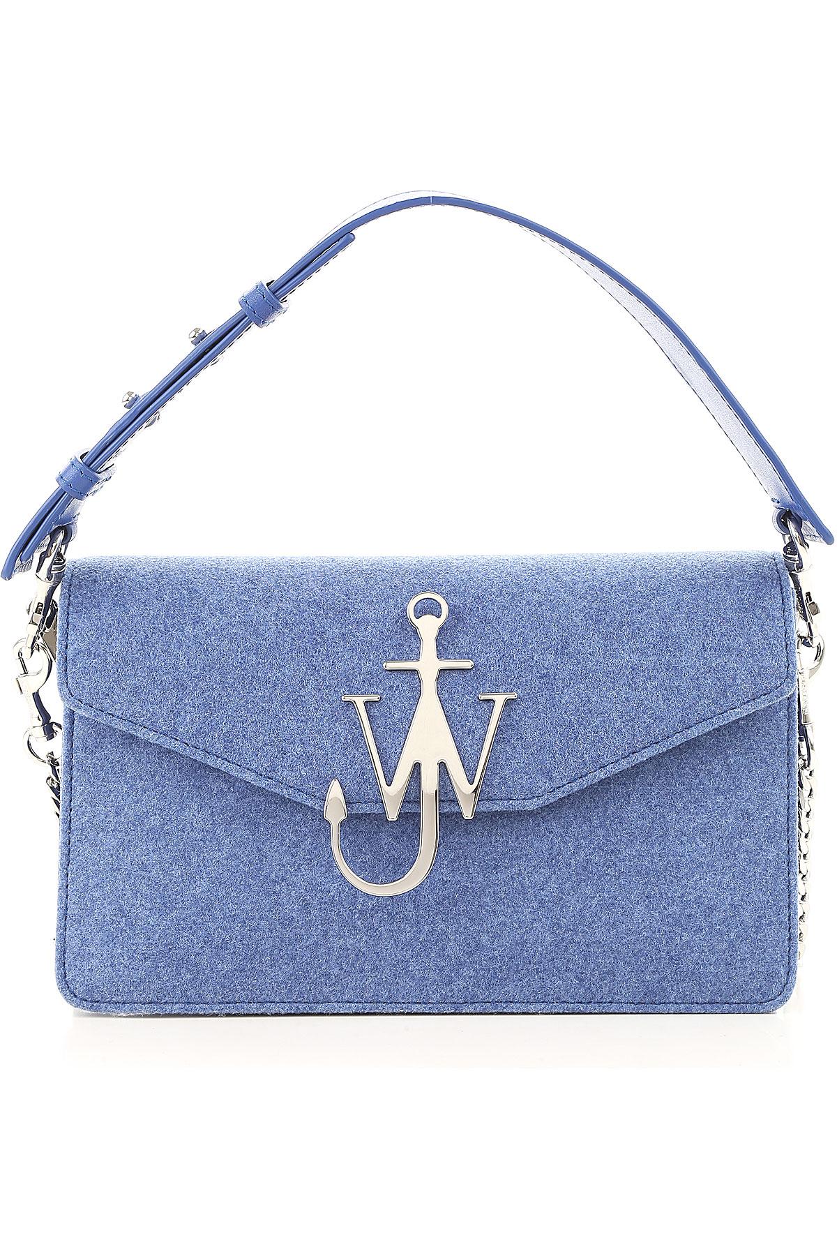 Image of J.W.Anderson Shoulder Bag for Women, Royal, Felt, 2017