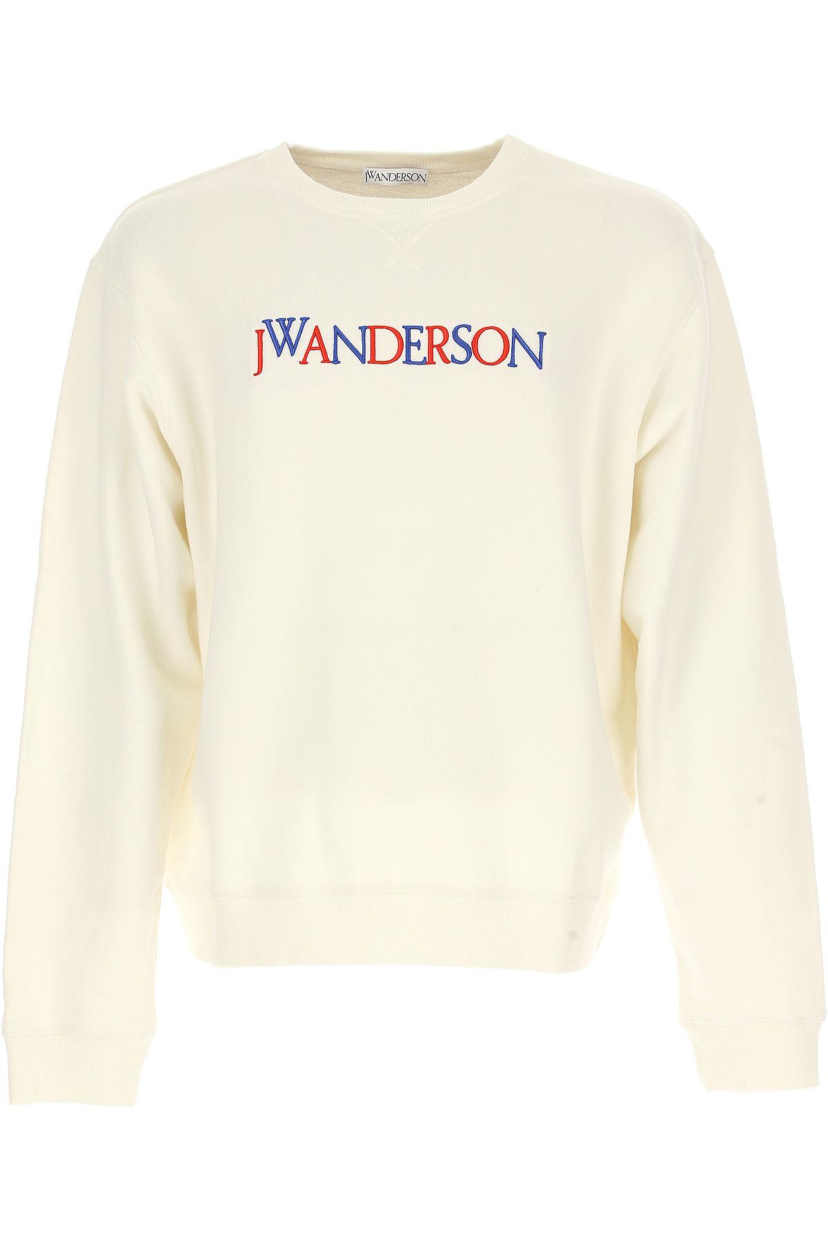 J.W.Anderson Sweatshirt for Men, White, Cotton, 2017, L M USA-468331