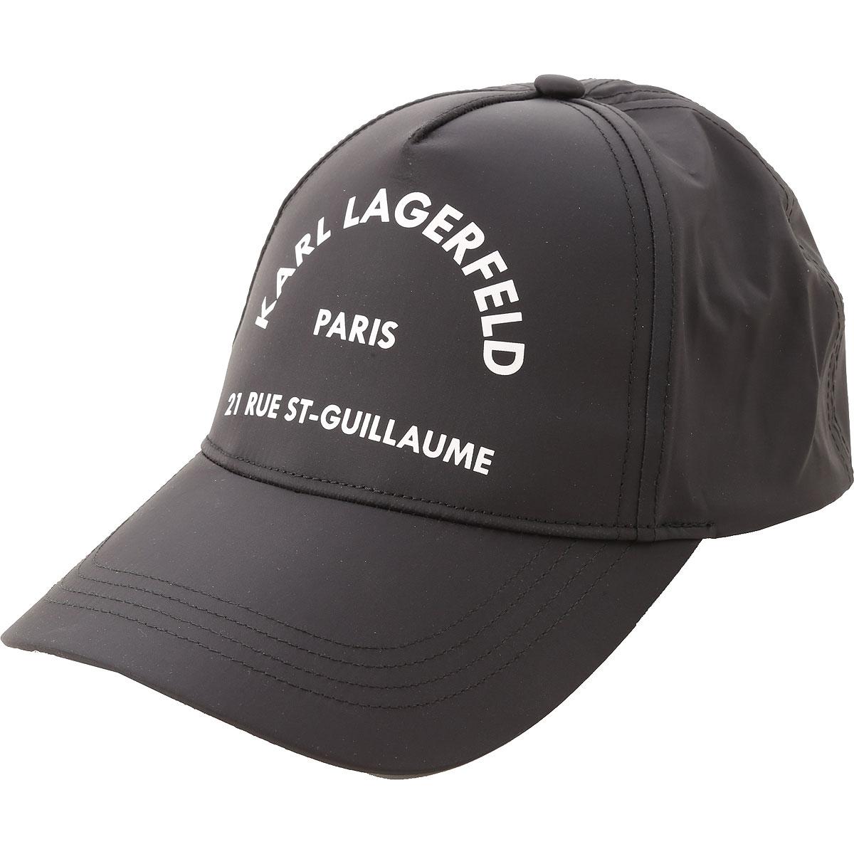Karl Lagerfeld Chapeau Femme, Noir, Polyamide, 2019