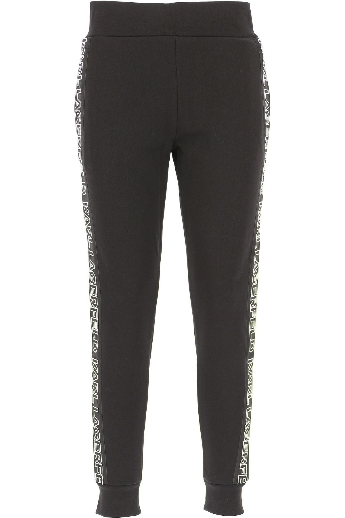 Image of Karl Lagerfeld Sweatpants, Black, Cotton, 2017, 10 4 6 8