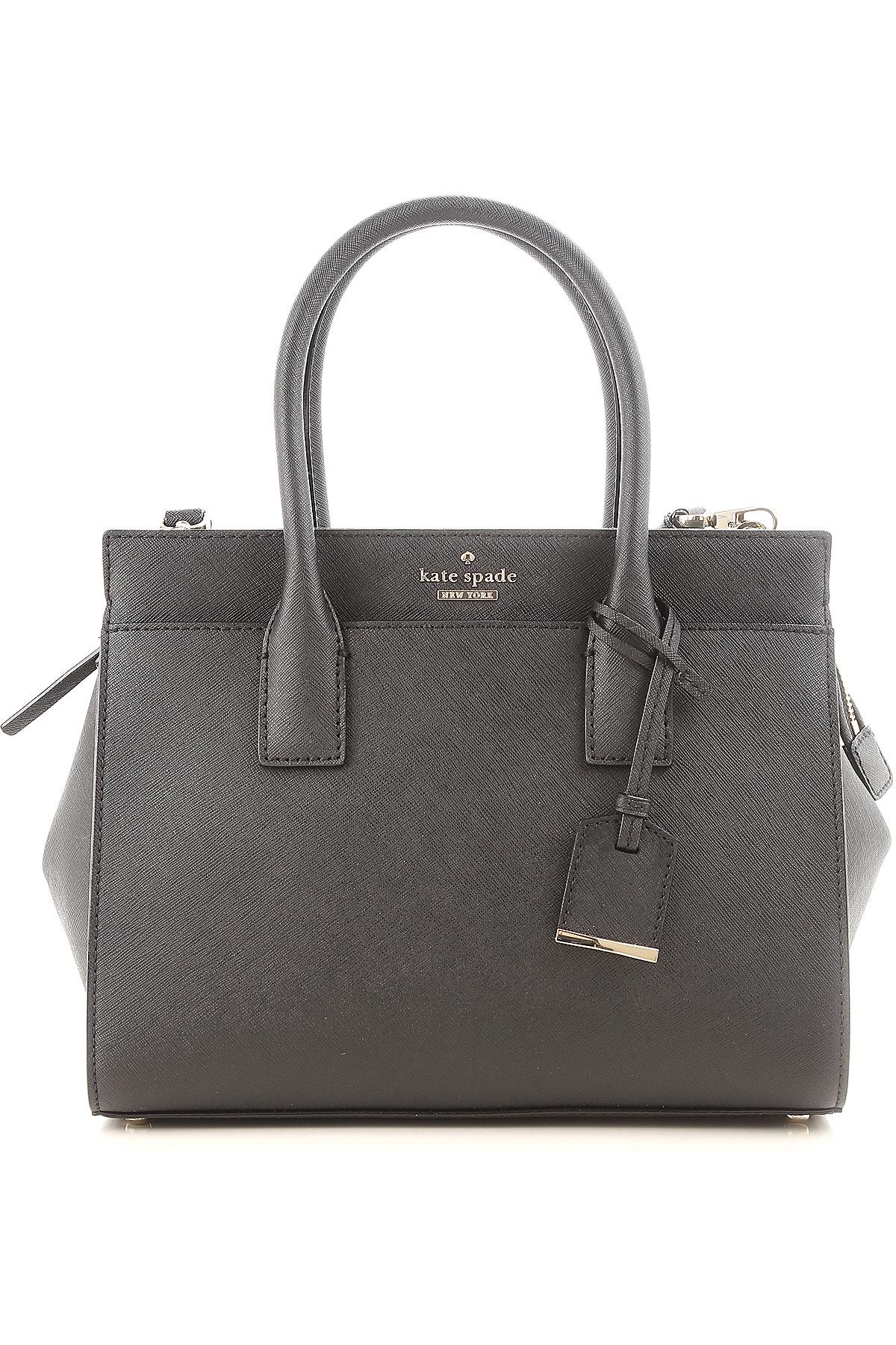 Image of Kate Spade Top Handle Handbag, Black, Leather, 2017
