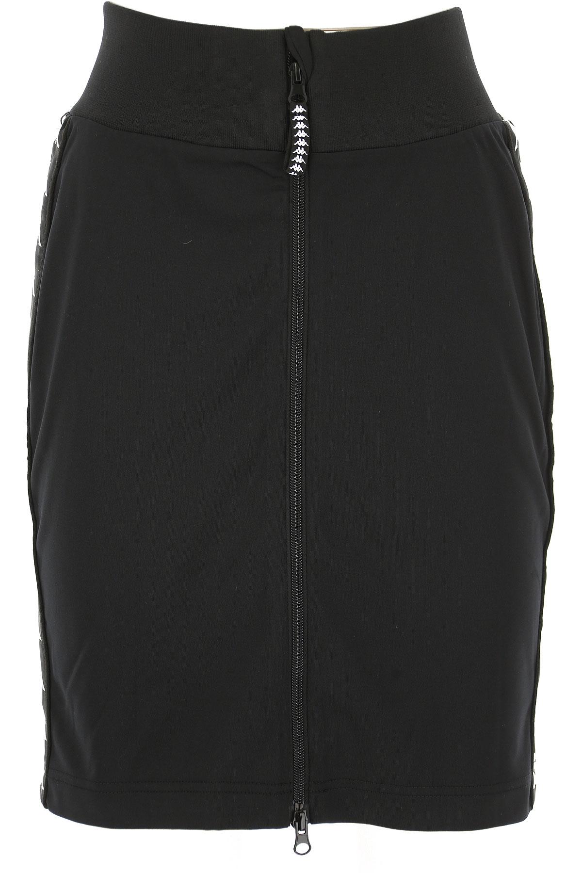 Image of Kappa Skirt for Women, Black, polyester, 2017, 4 6 8