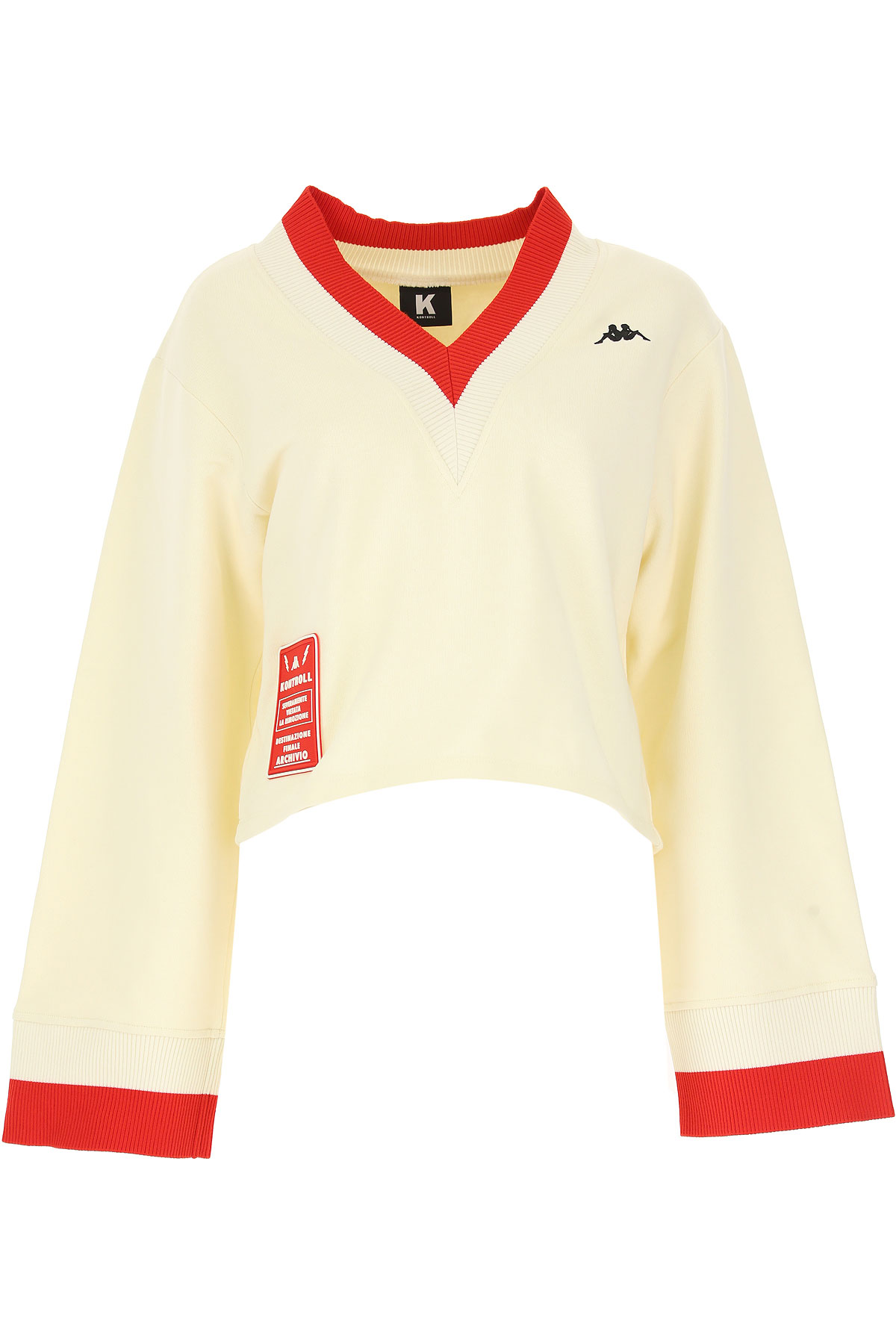 Image of Kappa Sweater for Women Jumper, Kappa Kontroll, Cream, Cotton, 2017, 10 4 6 8
