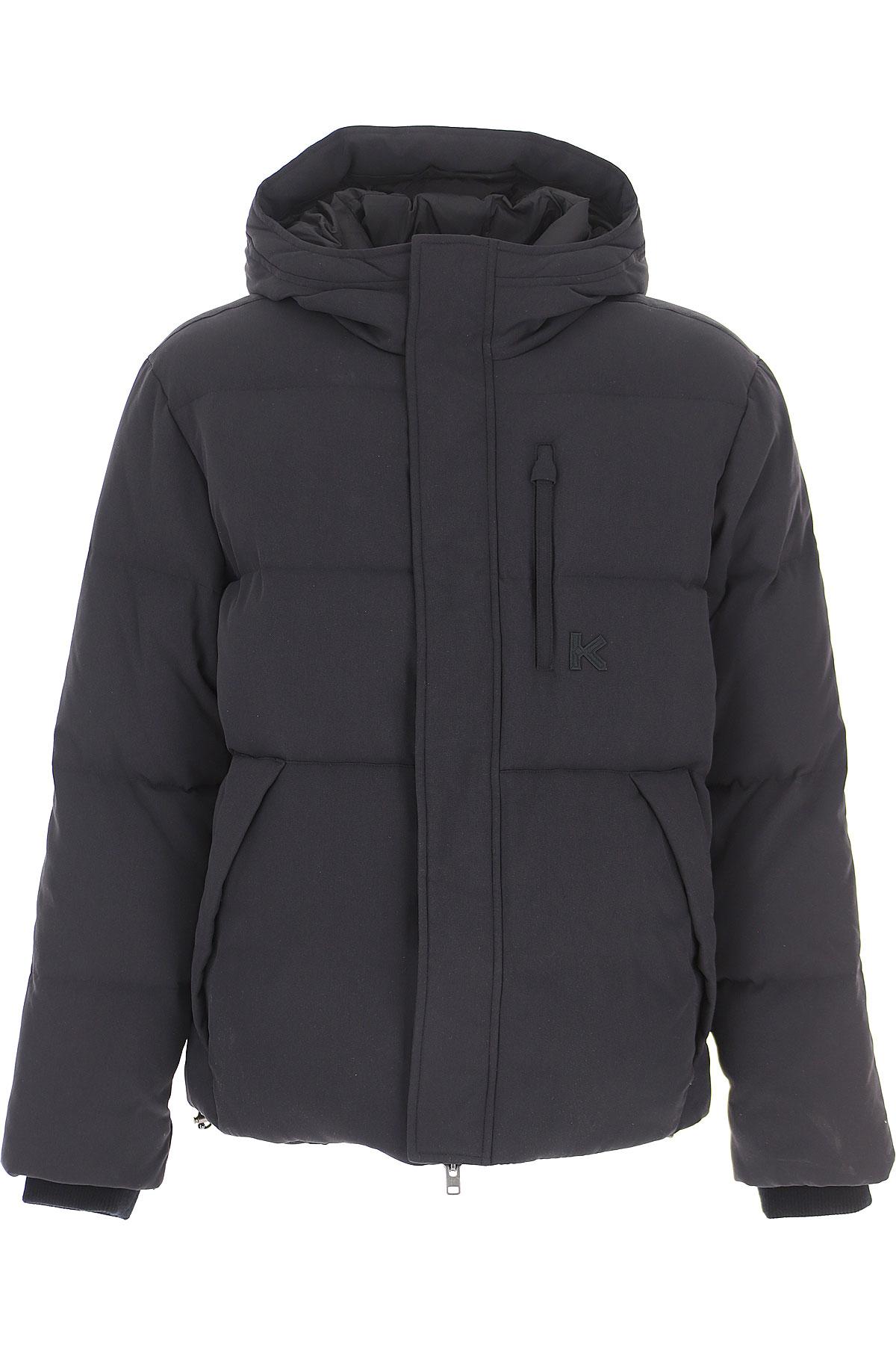Kenzo Down Jacket for Men, Puffer Ski Jacket On Sale, Black, Nylon, 2019, L S