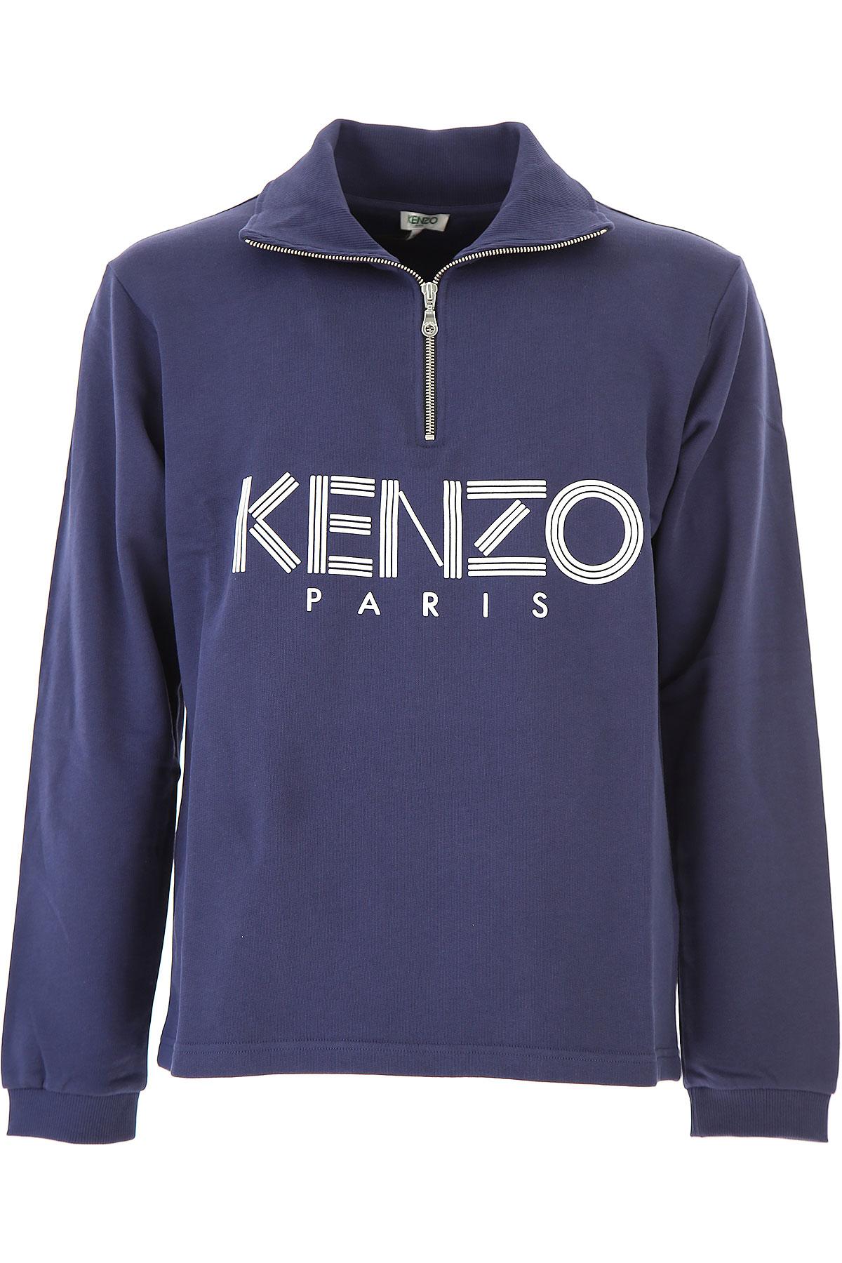 Kenzo Sweatshirt for Men On Sale, Blue, Cotton, 2017, L XL XS USA-417747