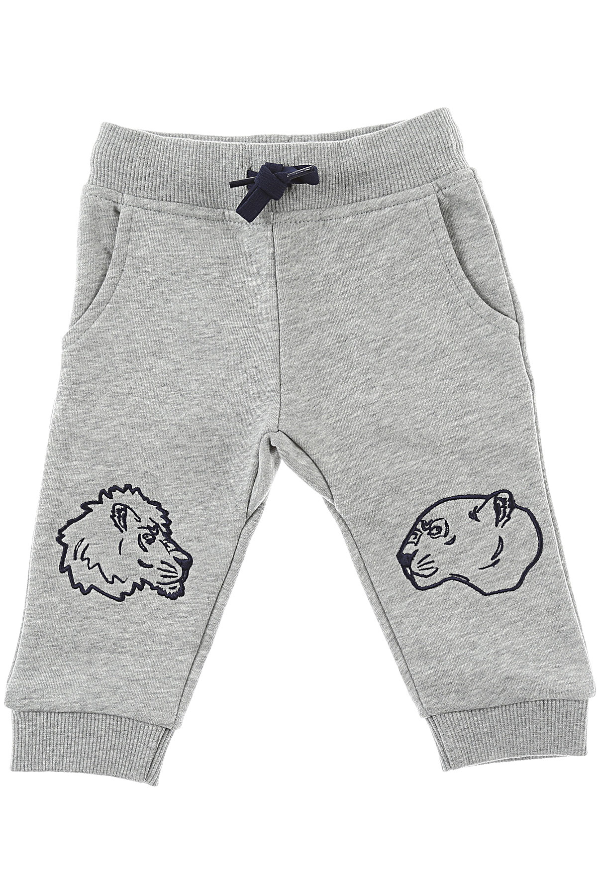 Image of Kenzo Baby Sweatpants for Boys, Grey, Cotton, 2017, 12M 18M 2Y 6M 9M