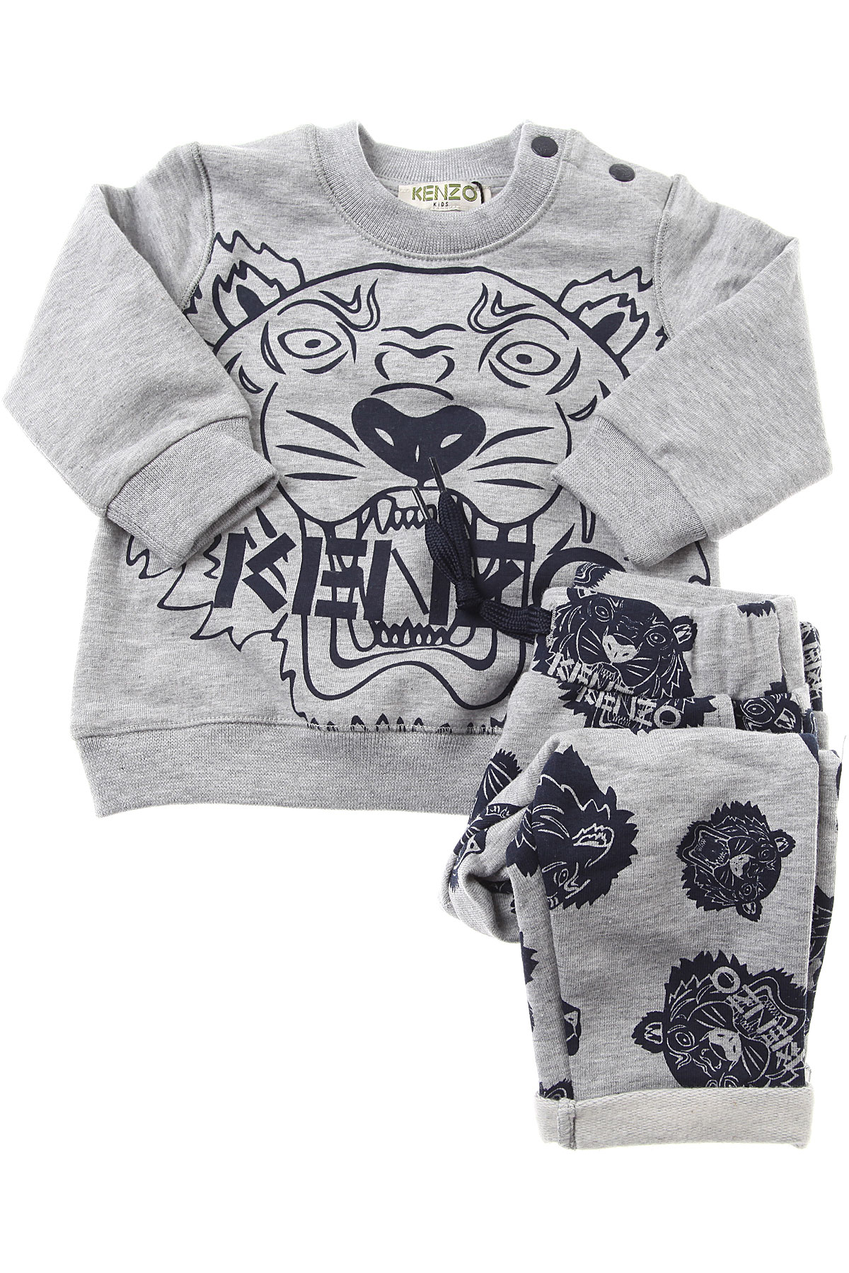Image of Kenzo Baby Sets for Boys, Grey, Cotton, 2017, 12M 18M 2Y 6M 9M