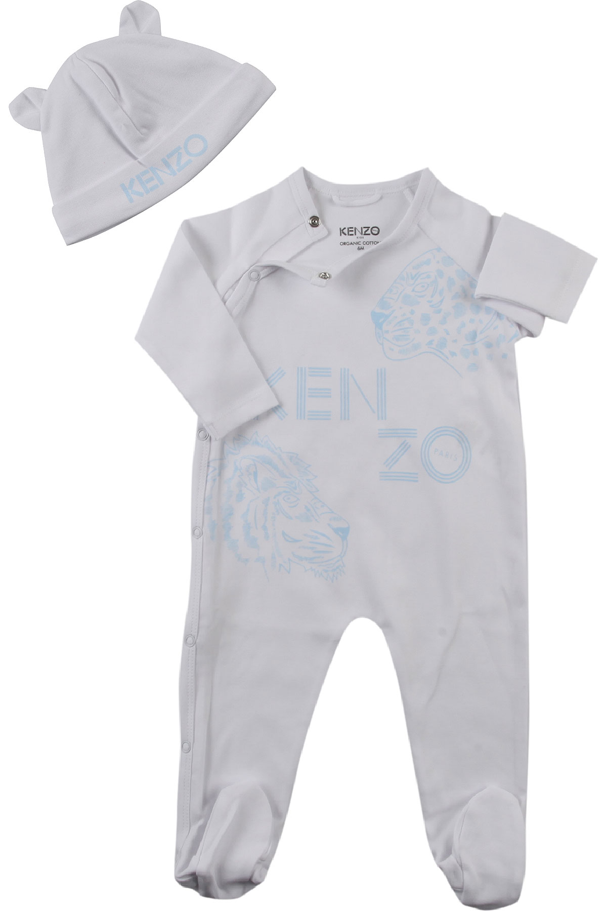 Image of Kenzo Baby Sets for Boys, White, Cotton, 2017, 1M 3M 6M