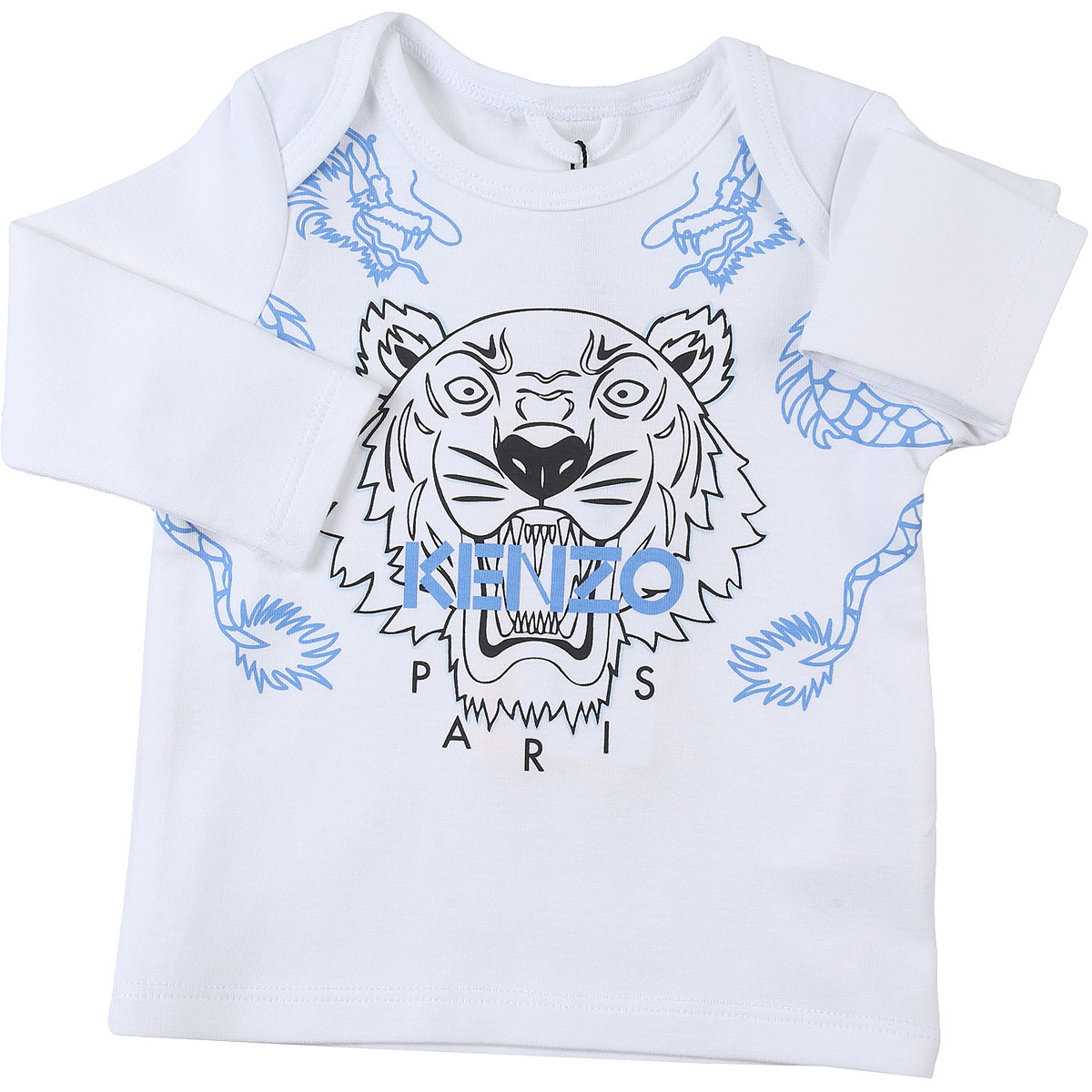Kenzo Baby T-Shirt for Boys On Sale, White, Cotton, 2019, 12 M 18M 3M 6M 9M