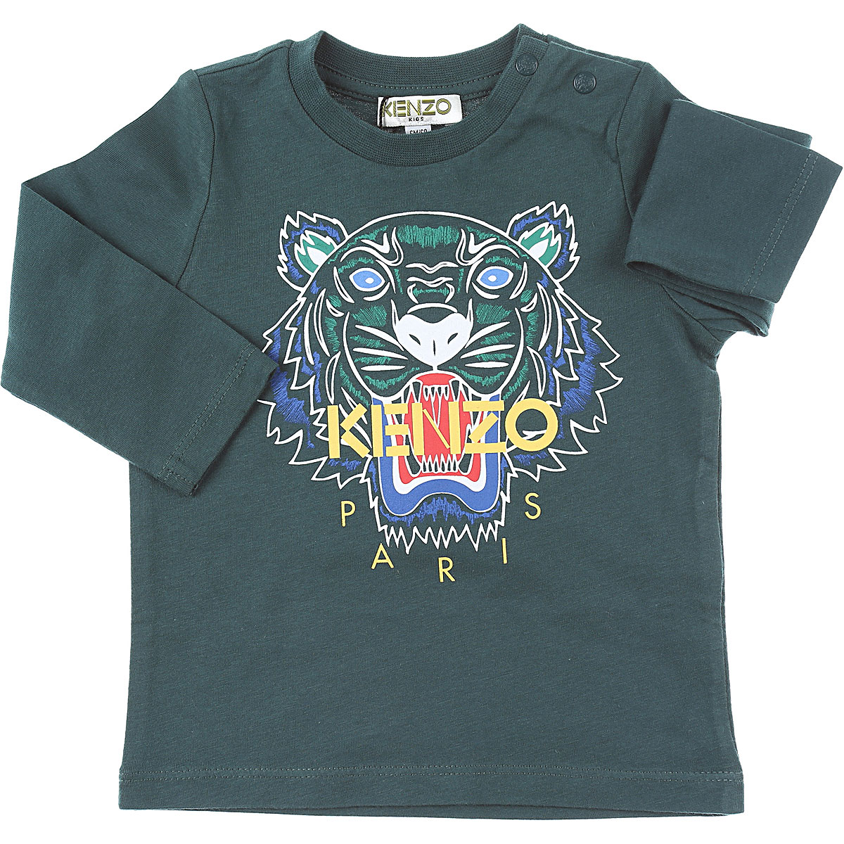 Kenzo Baby T-Shirt for Boys On Sale, Green, Cotton, 2019, 18M 9M