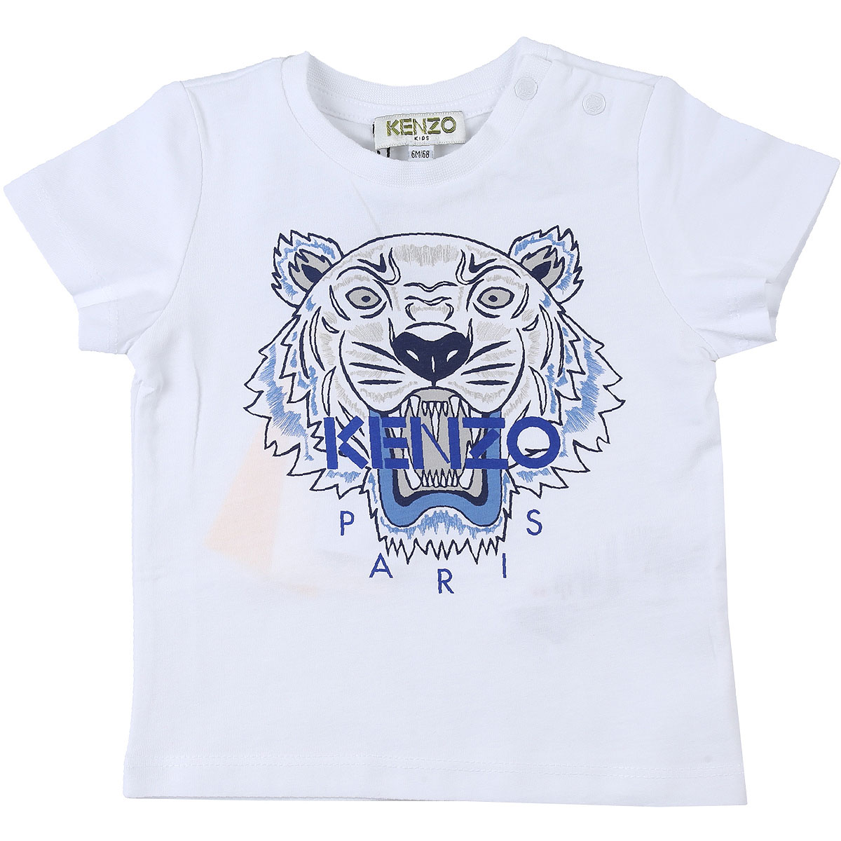 Kenzo Baby T-Shirt for Boys On Sale, White, Cotton, 2019, 12 M 18M 6M 9M