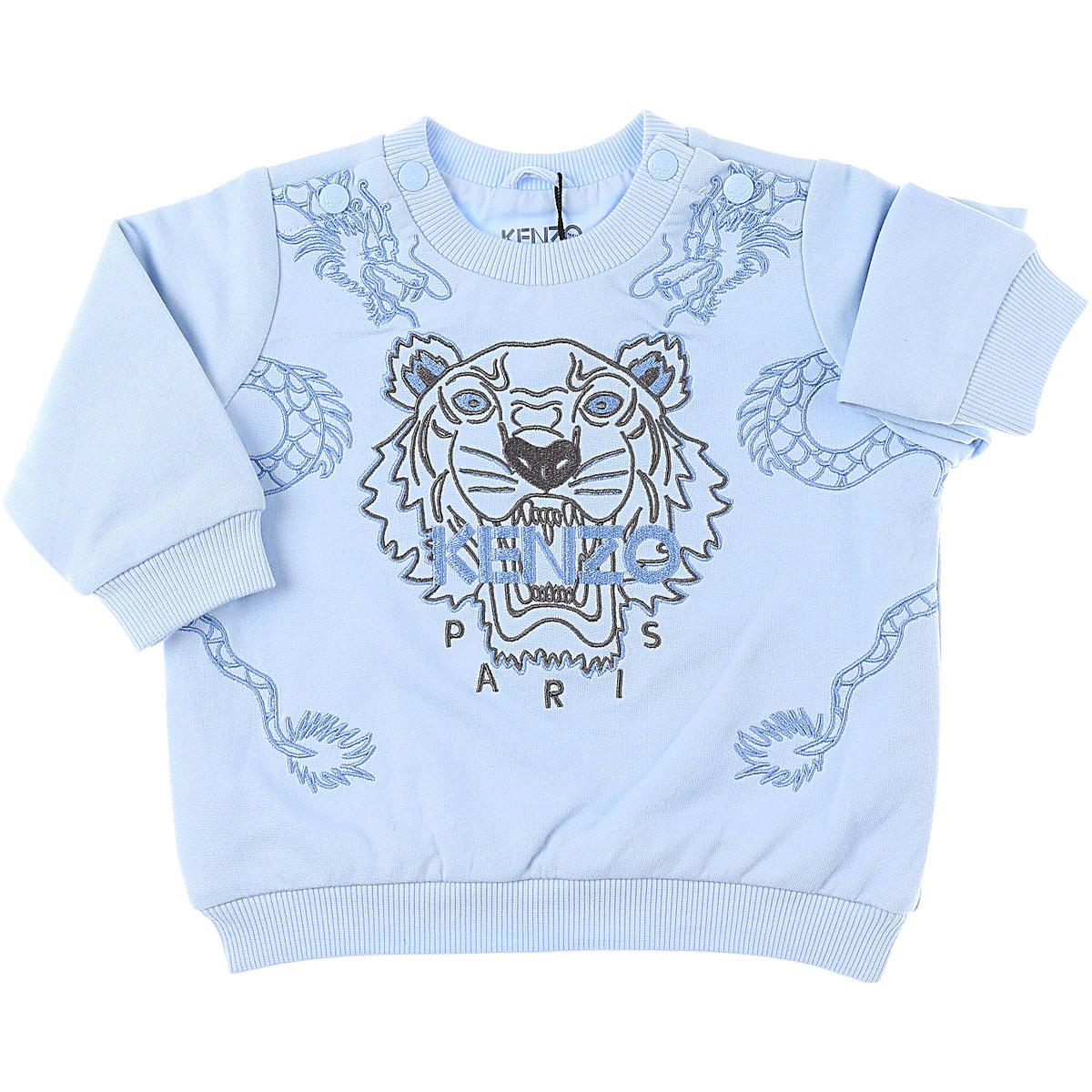 Kenzo Baby Sweatshirts & Hoodies for Boys On Sale, Sky, Cotton, 2019, 12 M 18M 3M 6M 9M