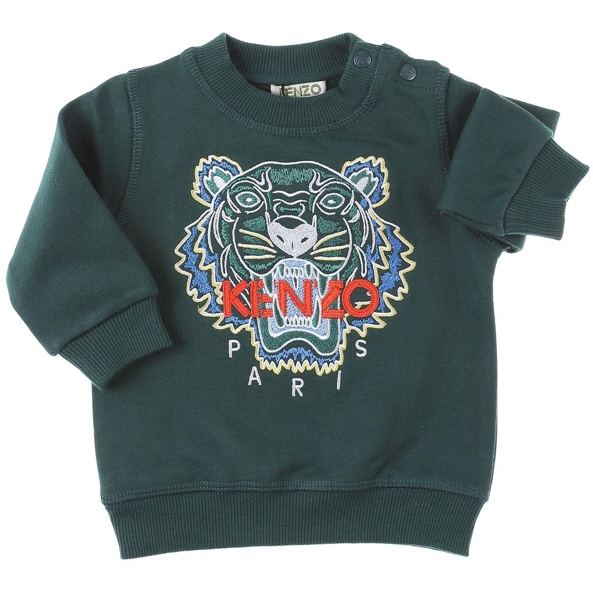 Kenzo Baby Sweatshirts & Hoodies for Boys On Sale, Green, Cotton, 2019, 12 M 18M 6M 9M