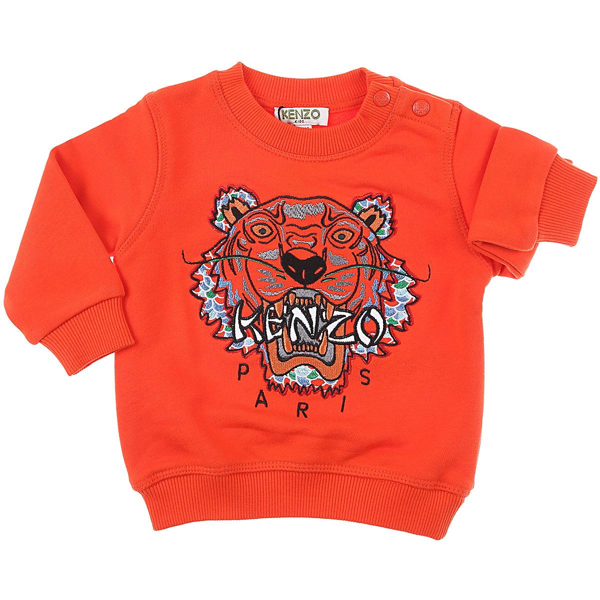 Kenzo Baby Sweatshirts & Hoodies for Boys On Sale, Orange, Cotton, 2019, 12 M 18M 6M 9M