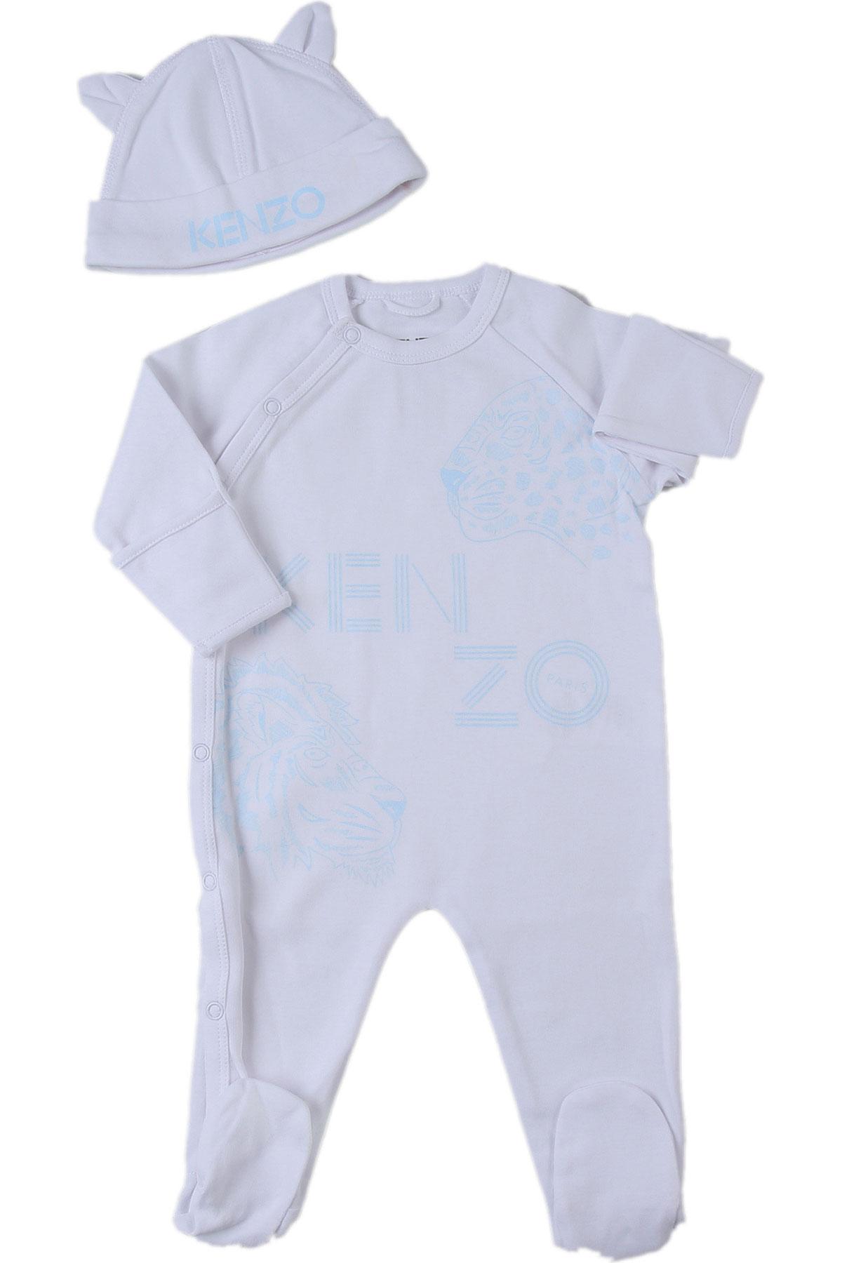 Kenzo Baby Bodysuits & Onesies for Boys On Sale, White, Cotton, 2019, 1M 3M