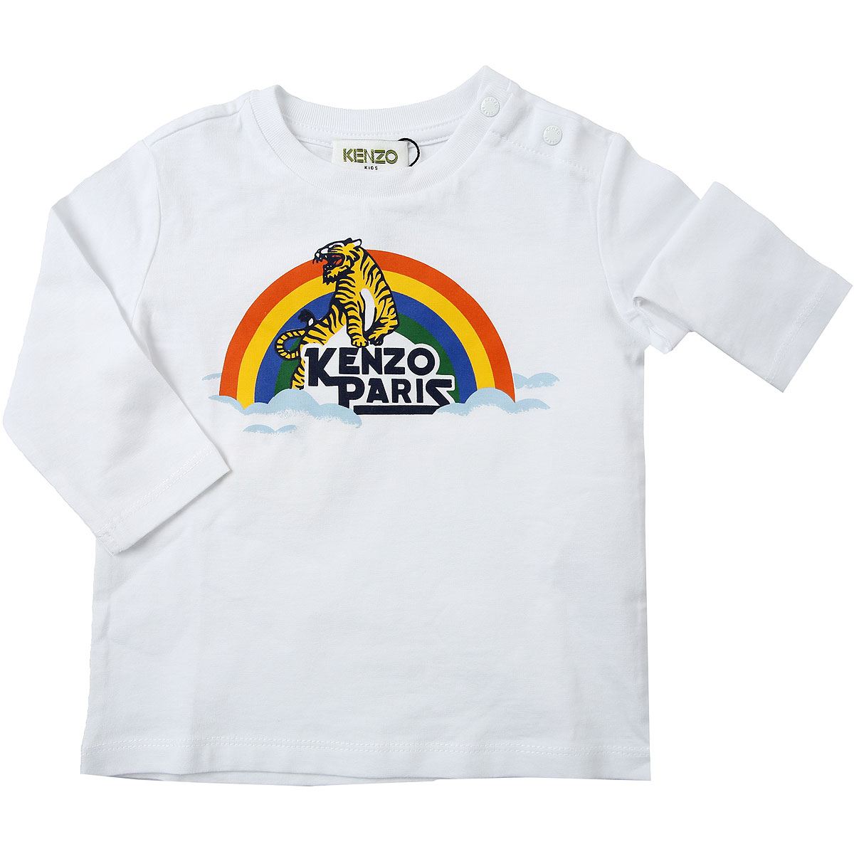 Kenzo Baby T-Shirt for Boys On Sale, White, Cotton, 2019, 12 M 3Y 9M