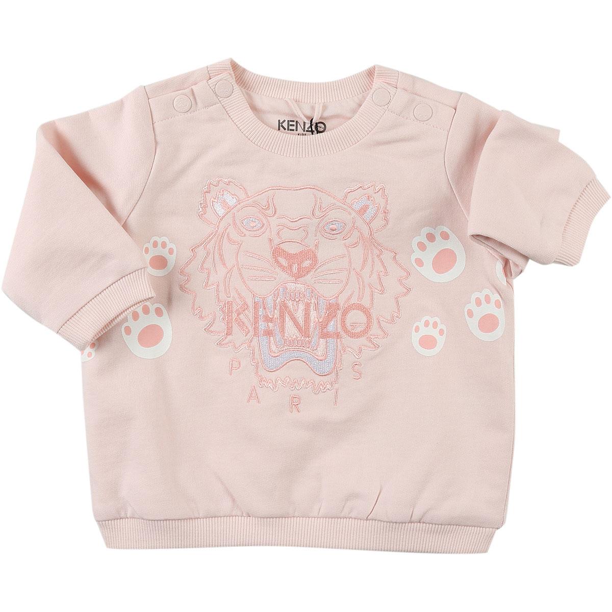 Image of Kenzo Baby Sweatshirts & Hoodies for Girls, Pink, Cotton, 2017, 12M 18M 2Y 6M 9M