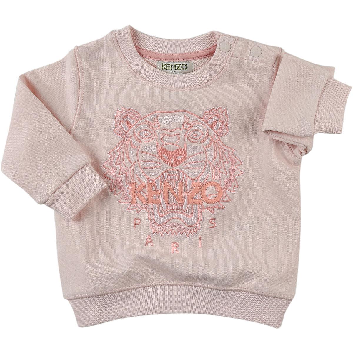Image of Kenzo Baby Sweatshirts & Hoodies for Girls, Pink, Cotton, 2017, 12M 6M 9M