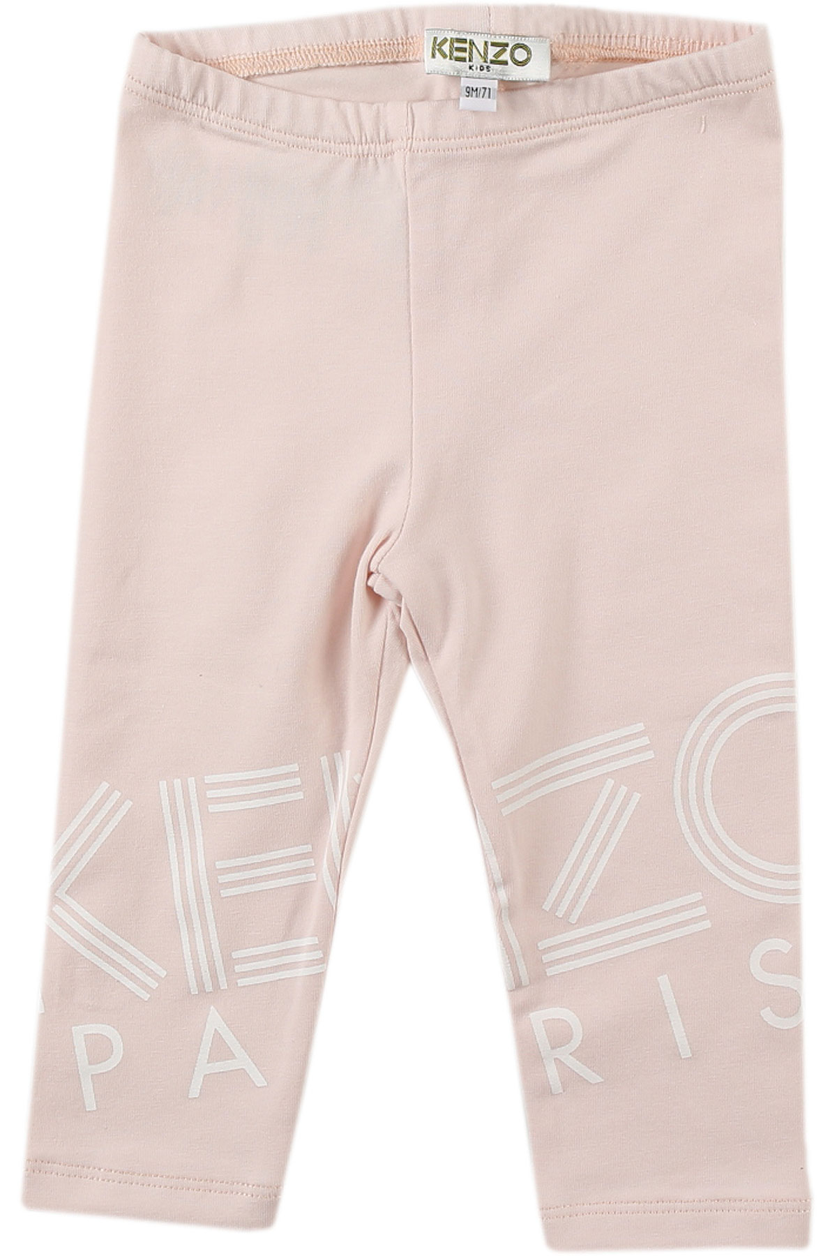 Image of Kenzo Baby Pants for Girls, Pink, Cotton, 2017, 12M 18M 2Y 6M 9M