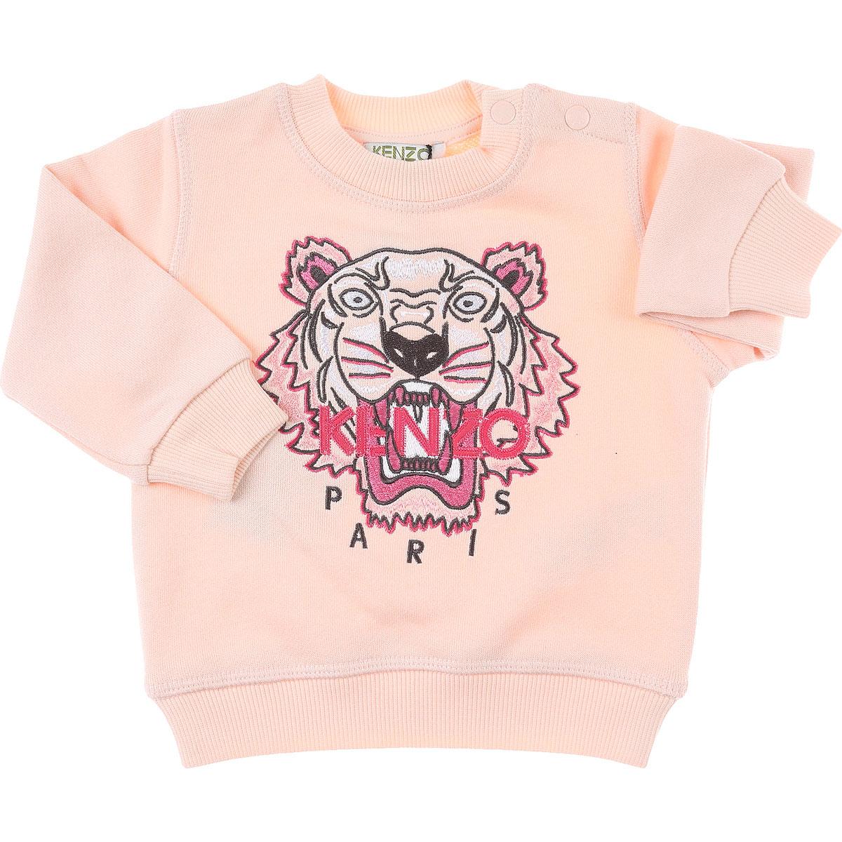 Kenzo Baby Sweatshirts & Hoodies for Girls On Sale, Pink, Cotton, 2019, 12M 18M