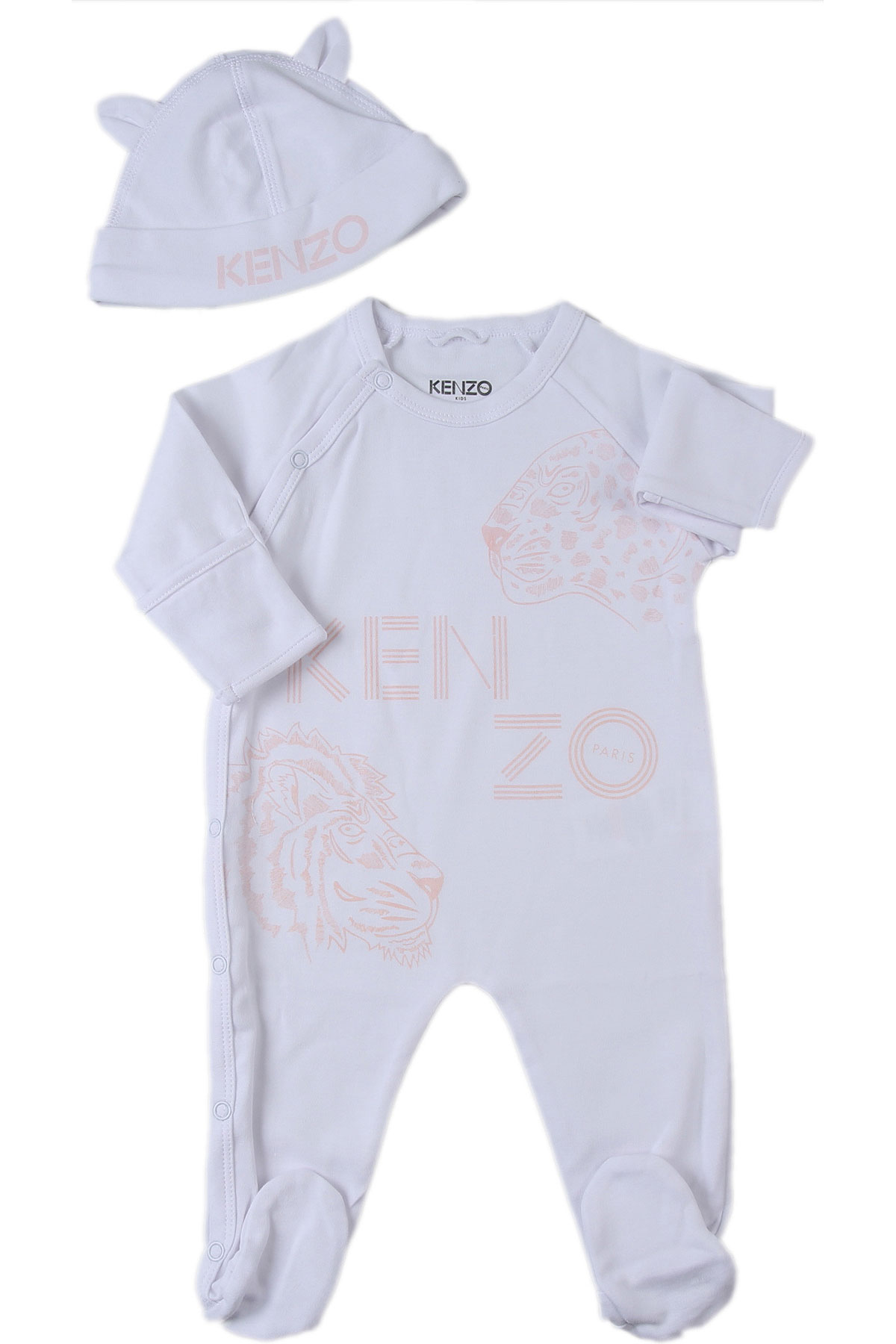 Kenzo Baby Bodysuits & Onesies for Girls On Sale, White, Cotton, 2019, 1M 3M