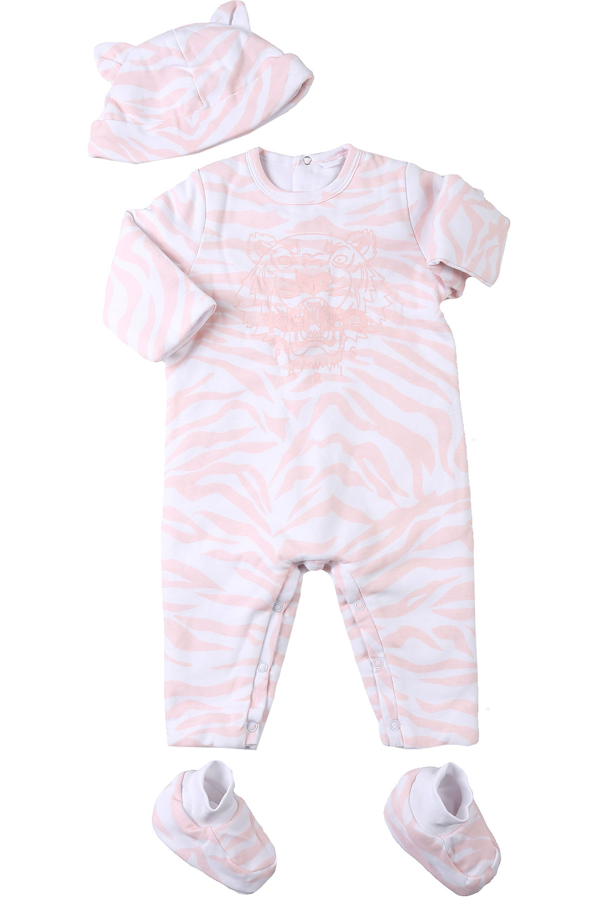 Kenzo Baby Sets for Girls On Sale, White, Cotton, 2019, 1M 3M