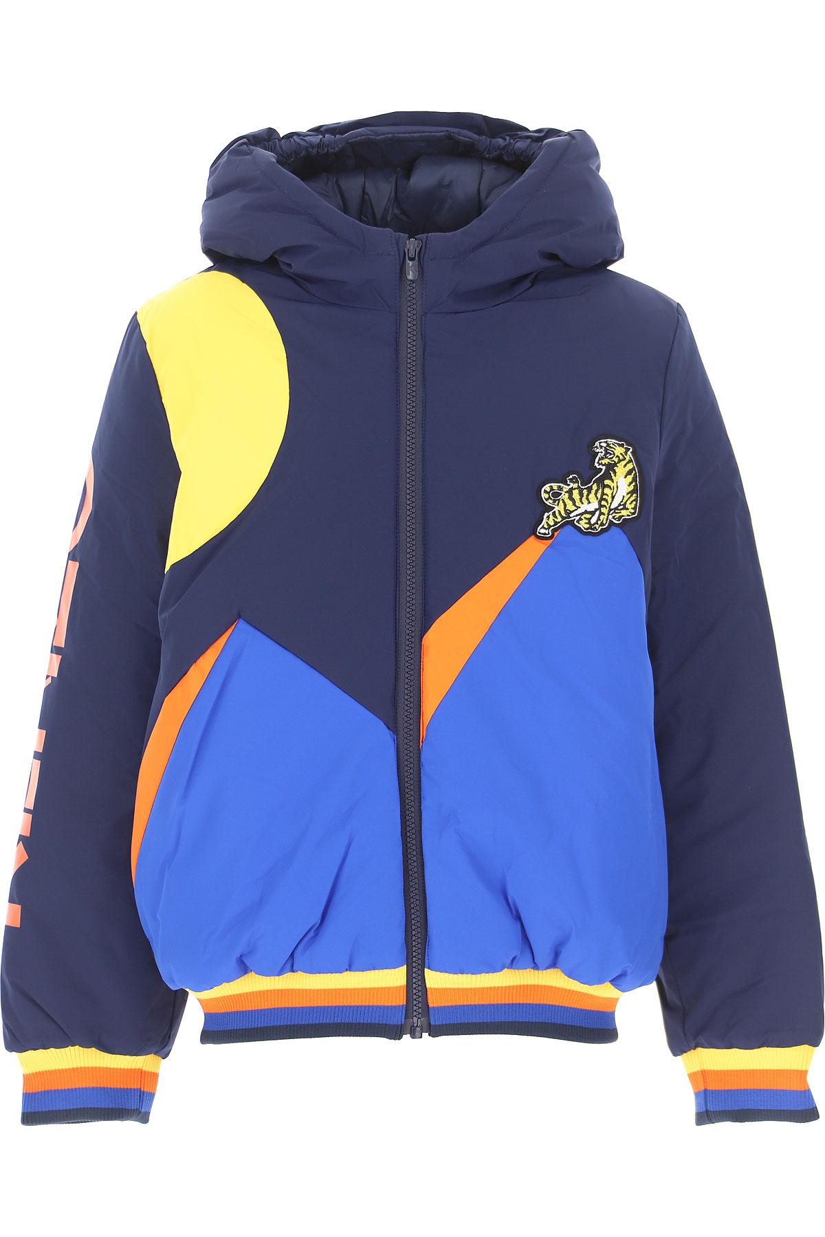Kenzo Boys Down Jacket for Kids, Puffer Ski Jacket On Sale, Midnight Blue, polyamide, 2019, 10Y 14Y 8Y