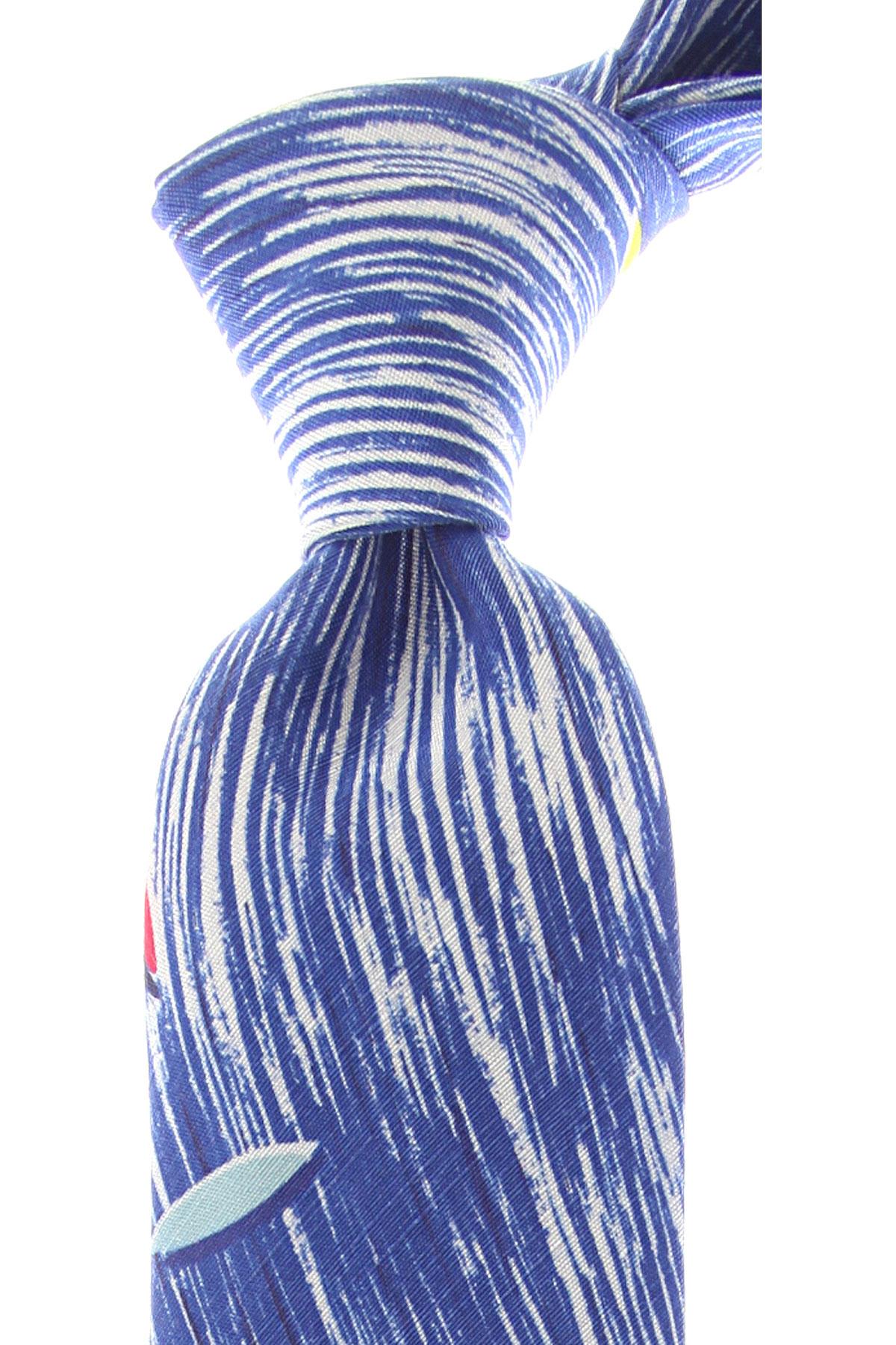 Kenzo Cravates Pas cher en Soldes, Bleu électrique, Soie, 2017