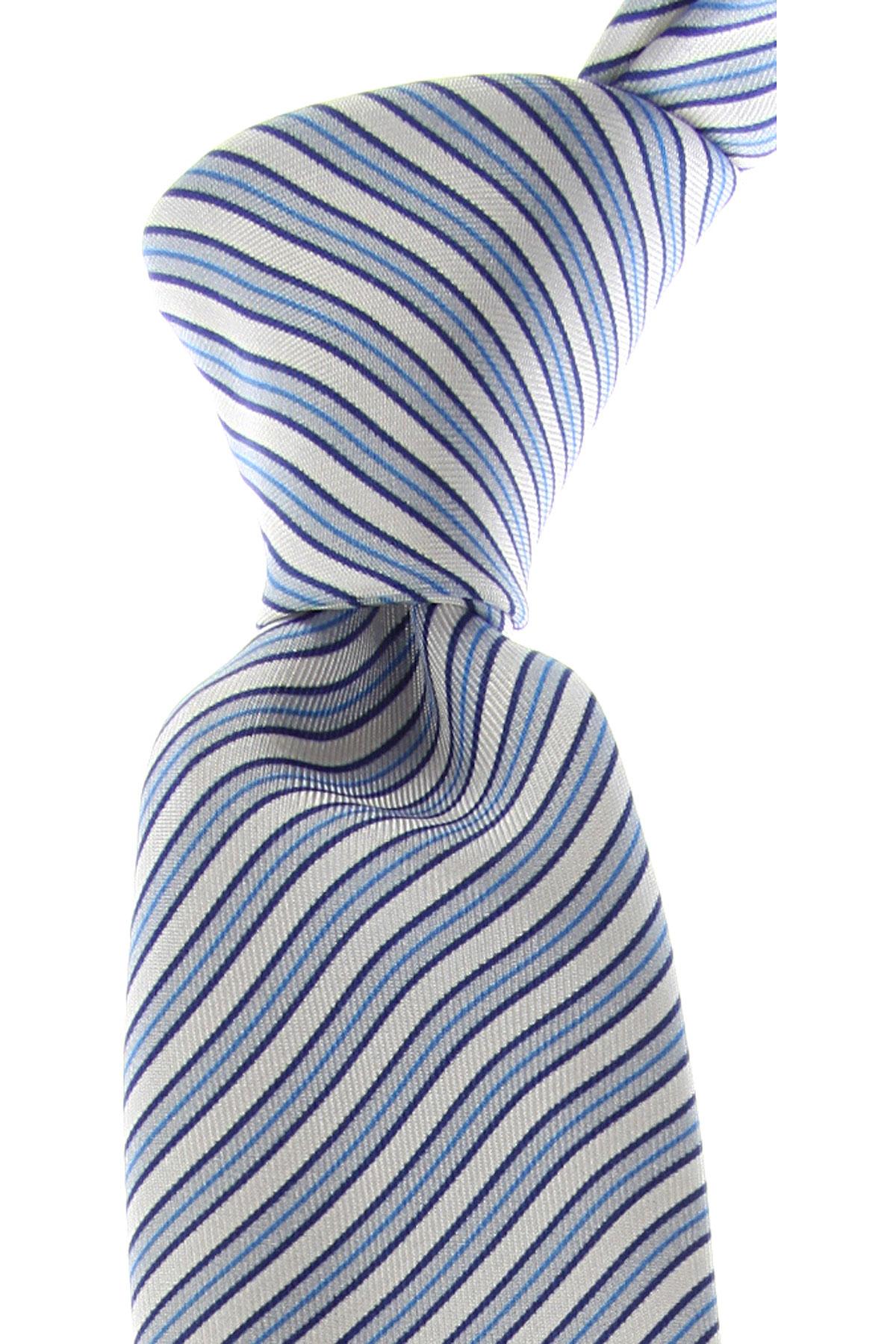 Kenzo Cravates Pas cher en Soldes, Bleu ciel clair, Soie, 2021
