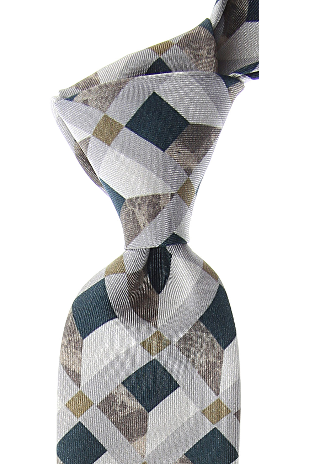 Kenzo Cravates Pas cher en Soldes, Blanc, Soie, 2019