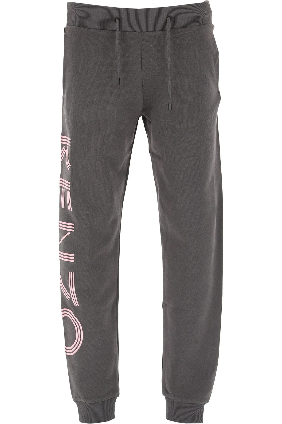 Image of Kenzo Sweatpants, Dark Anthracite Grey, Cotton, 2017, 10 2 4 6 8