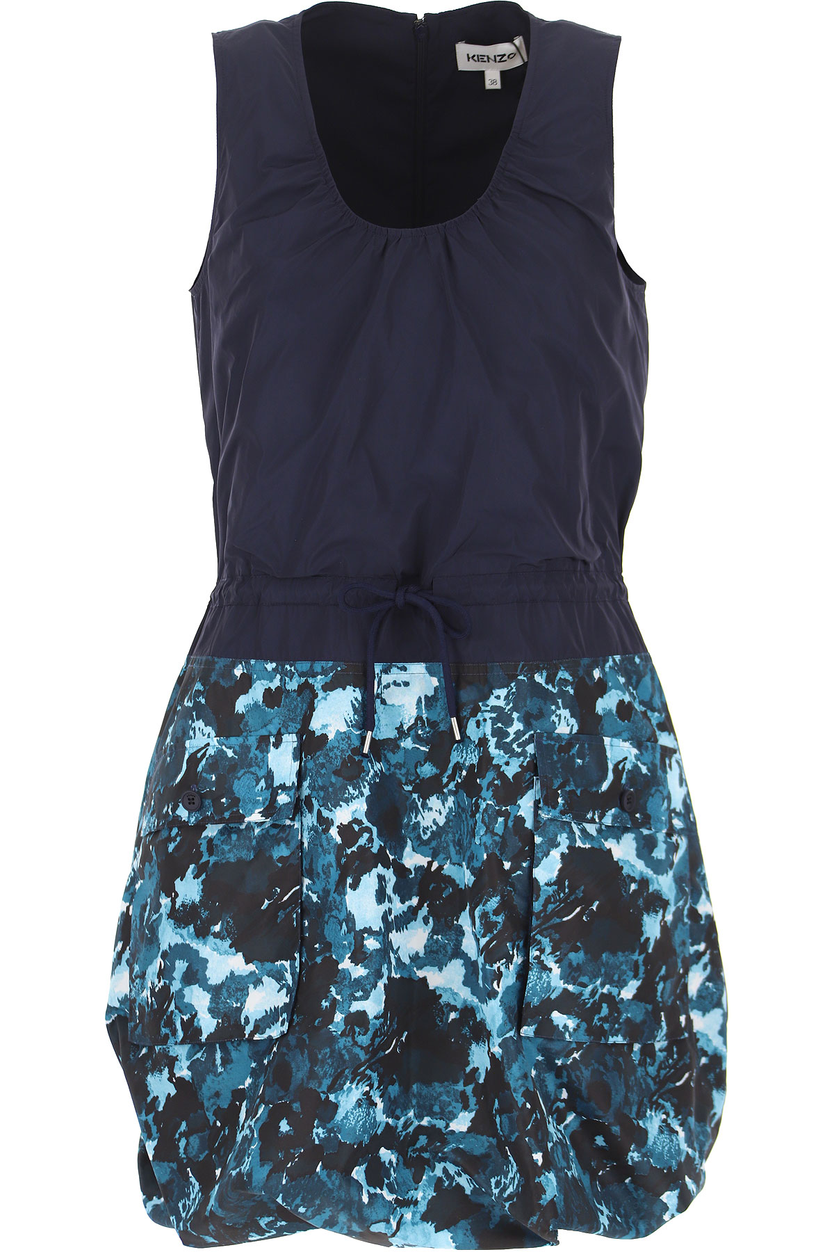 Kenzo Dress for Women, Evening Cocktail Party On Sale, Blue, polyester, 2019, 2